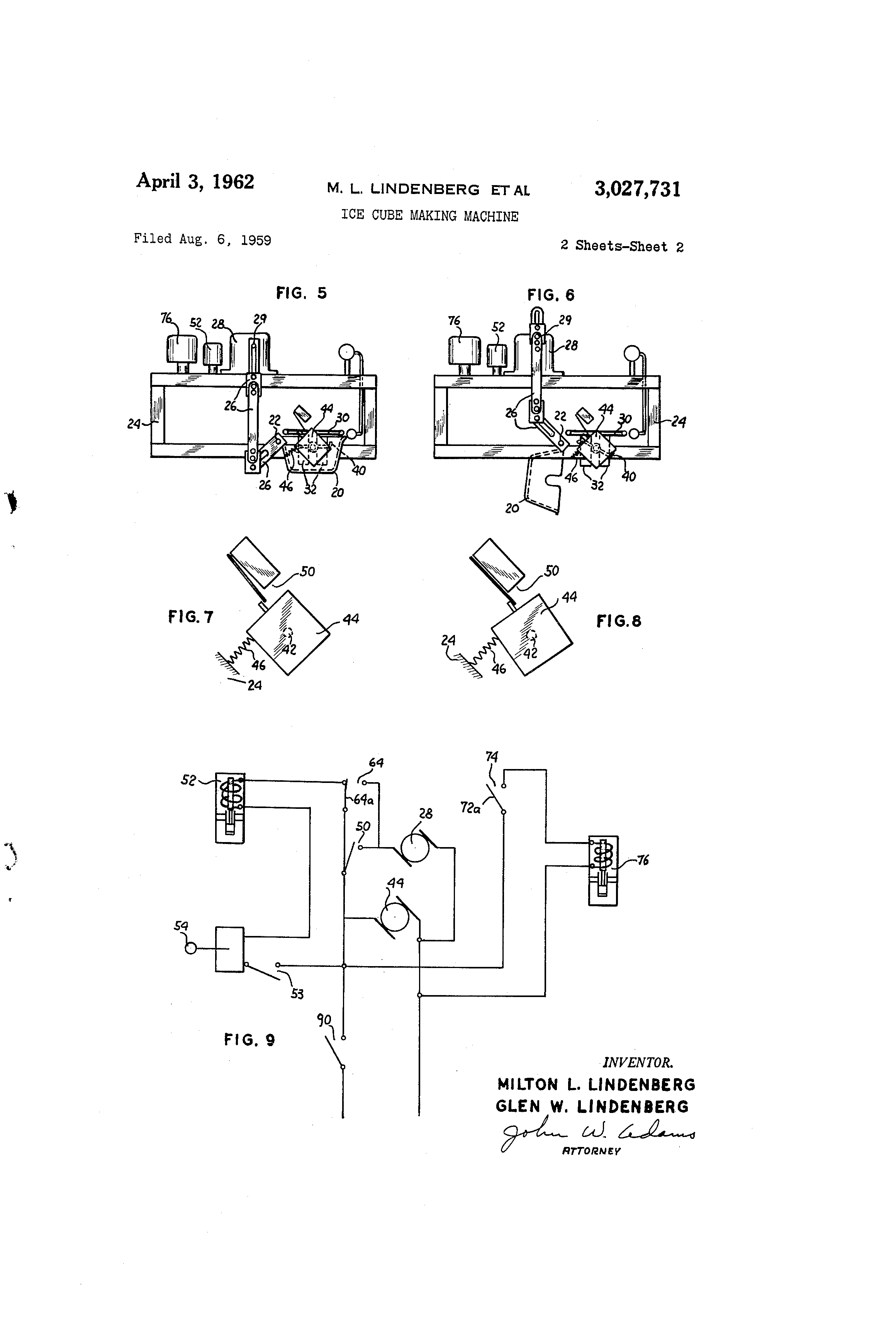 US3027731 1 patent us3027731 ice cube making machine google patentsuche brema ice maker wiring diagram at n-0.co