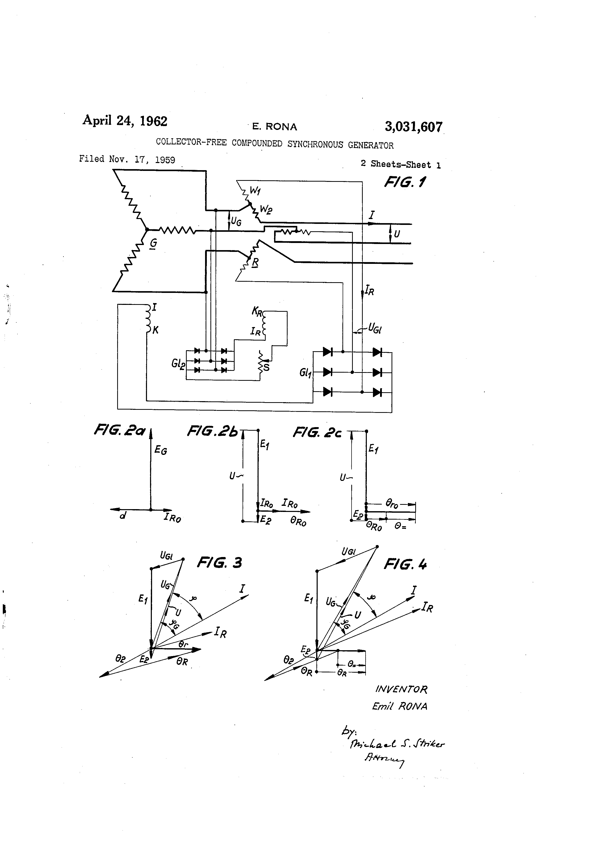Brevet Us3031607 Collector Free Compounded Synchronous Generator Shortcircuitratioofsynchronousgeneratorfig1 Patent Drawing