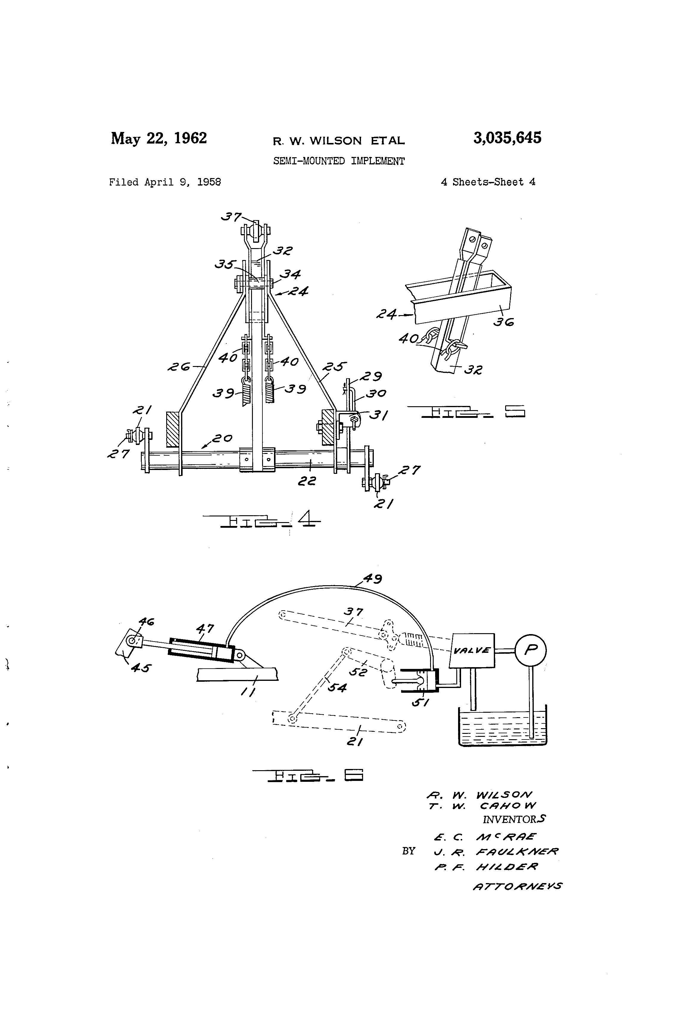 Patent US3035645 - Semi-mounted implement - Google Patents