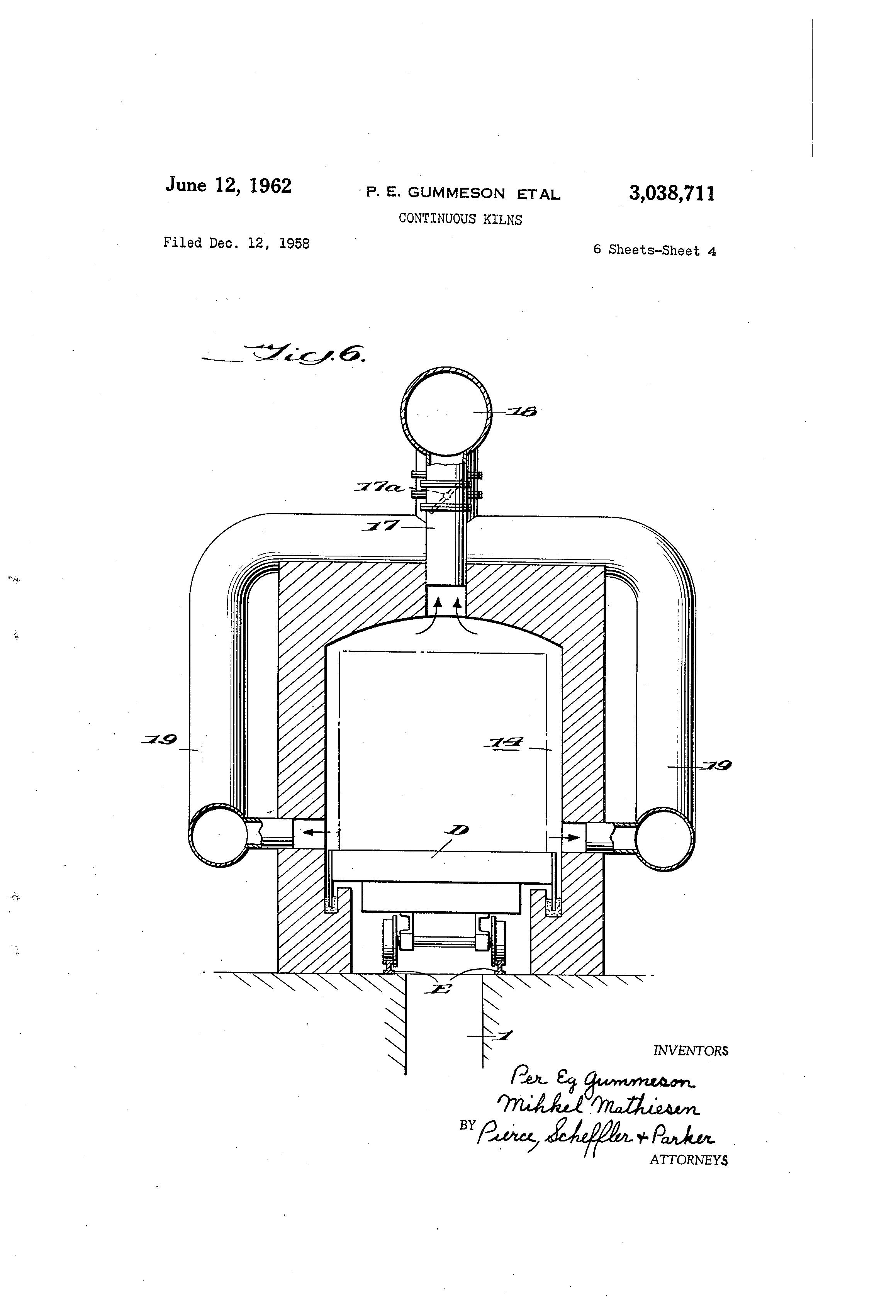 Patent US3038711 - Continuous kilns - Google Patents