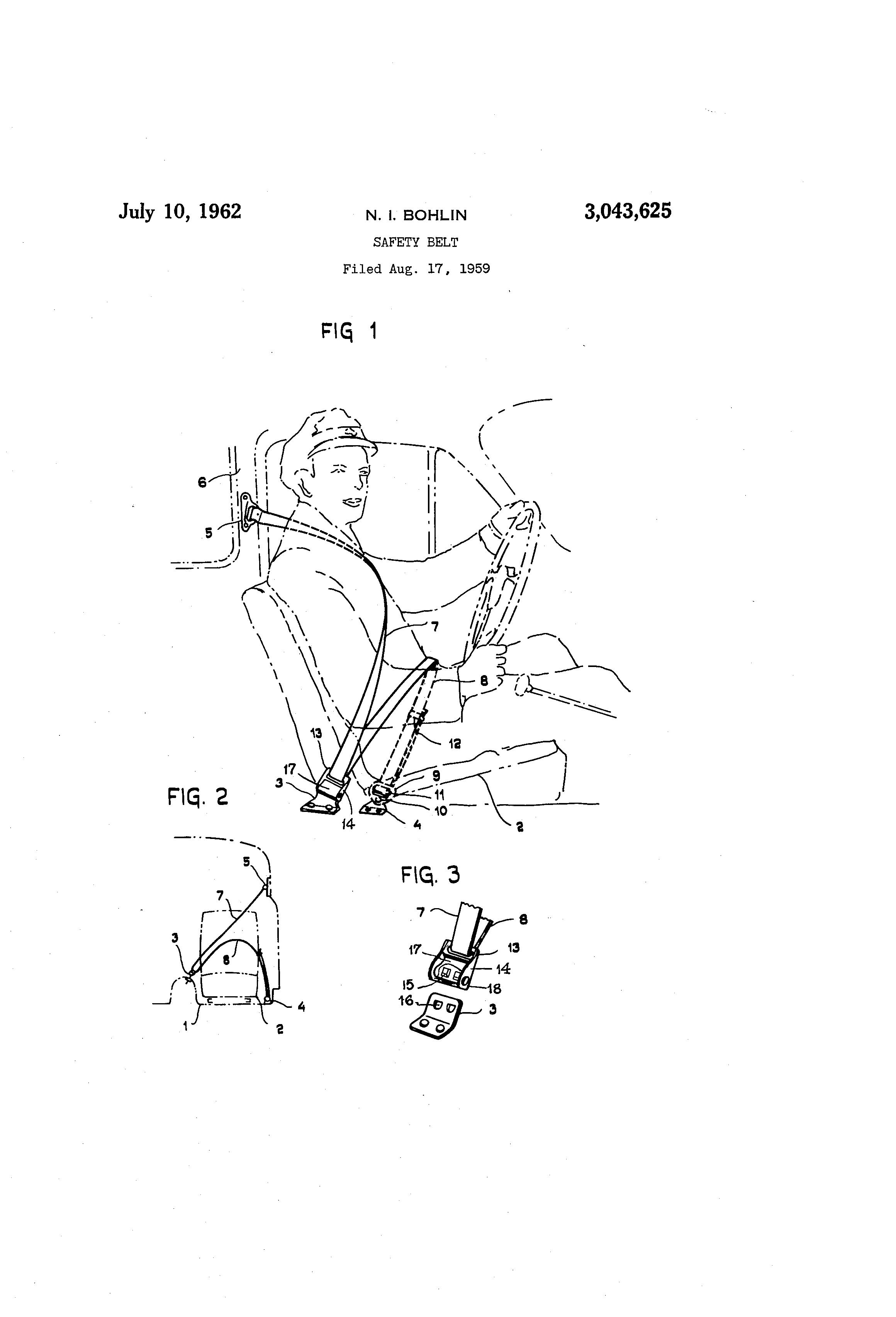 patent us3043625 - safety belt