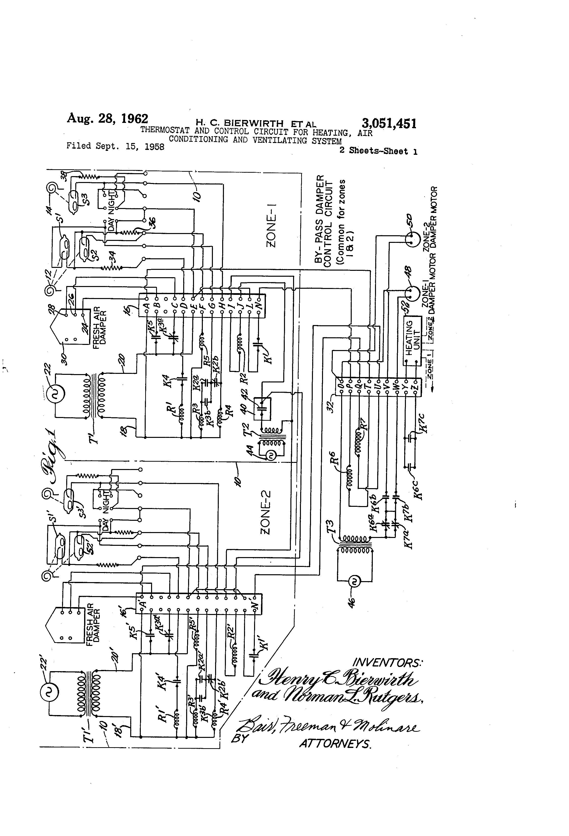 Day Night Thermostat Wiring And Air Conditioner Diagram