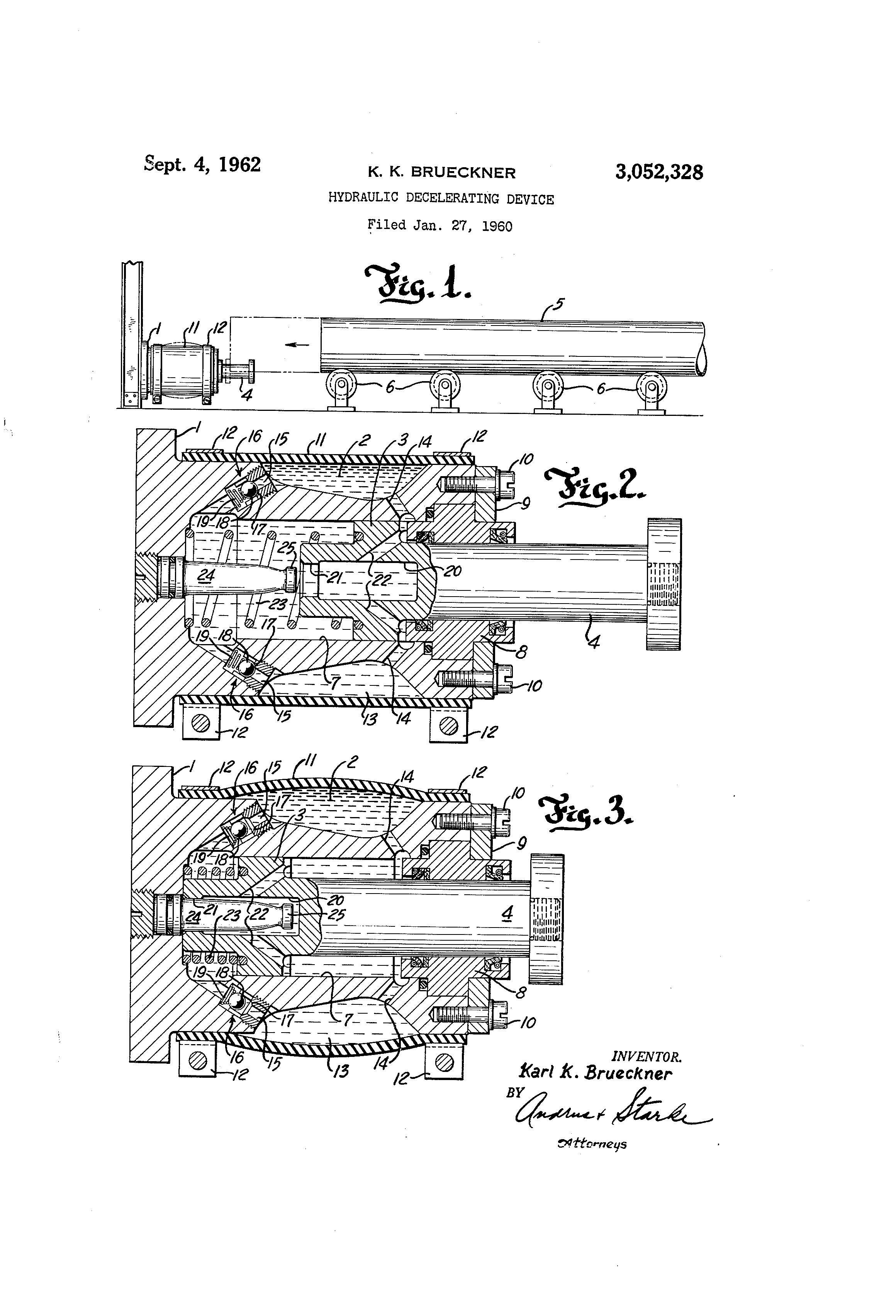 Brevet US3052328 - Hydraulic decelerating device - Google