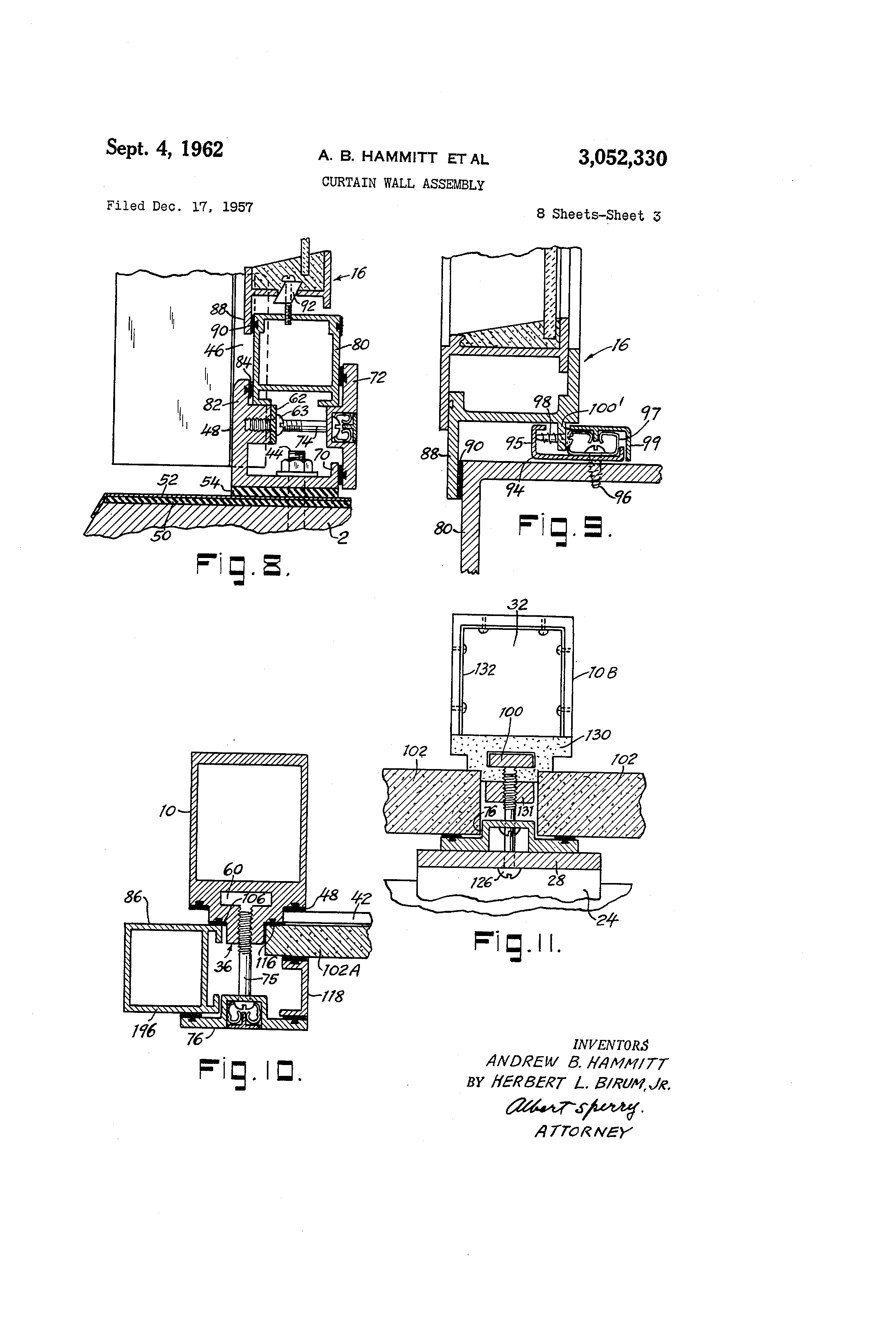 Curtain Wall Assembly : Patent us curtain wall assembly google patents