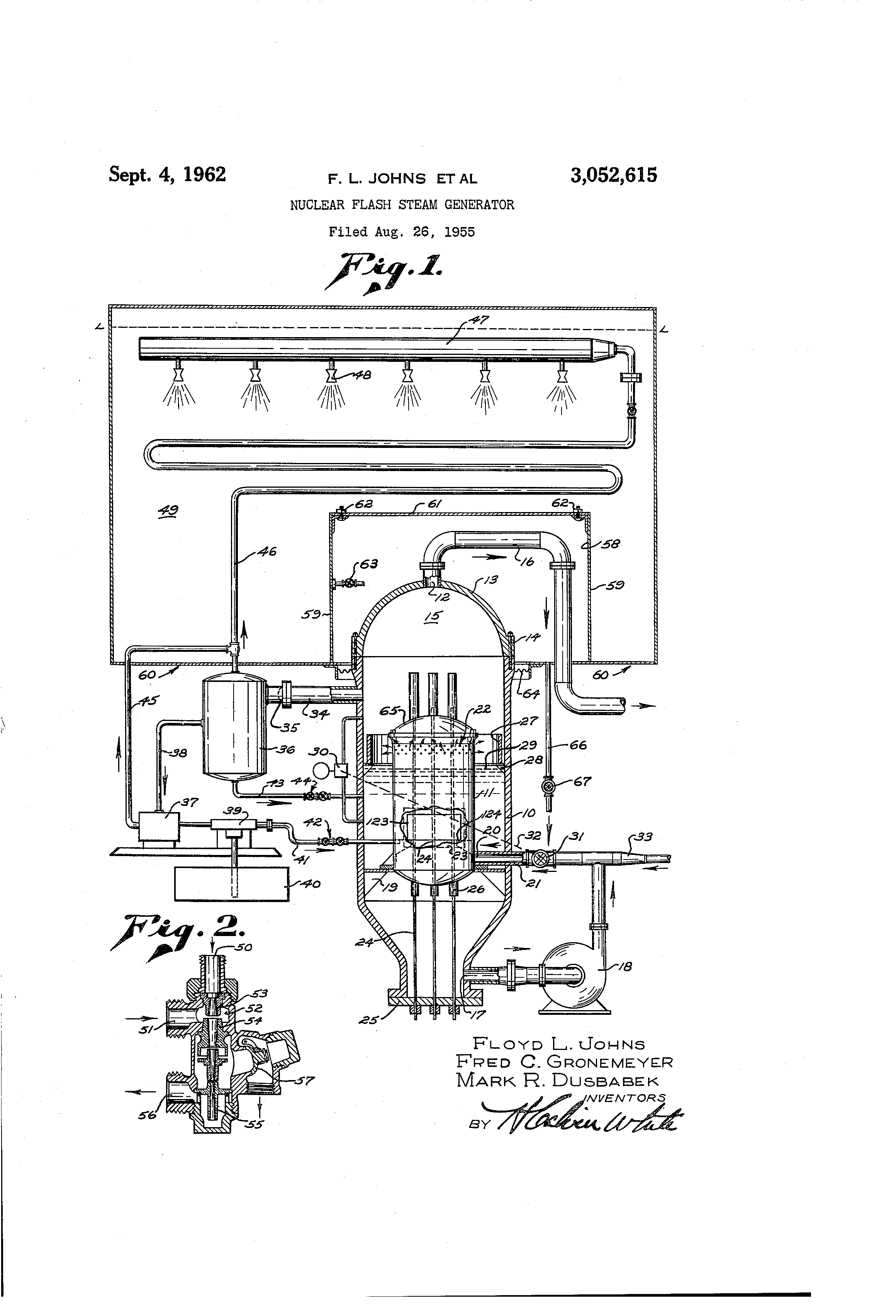 Patent US Nuclear flash steam generator Google Patenten