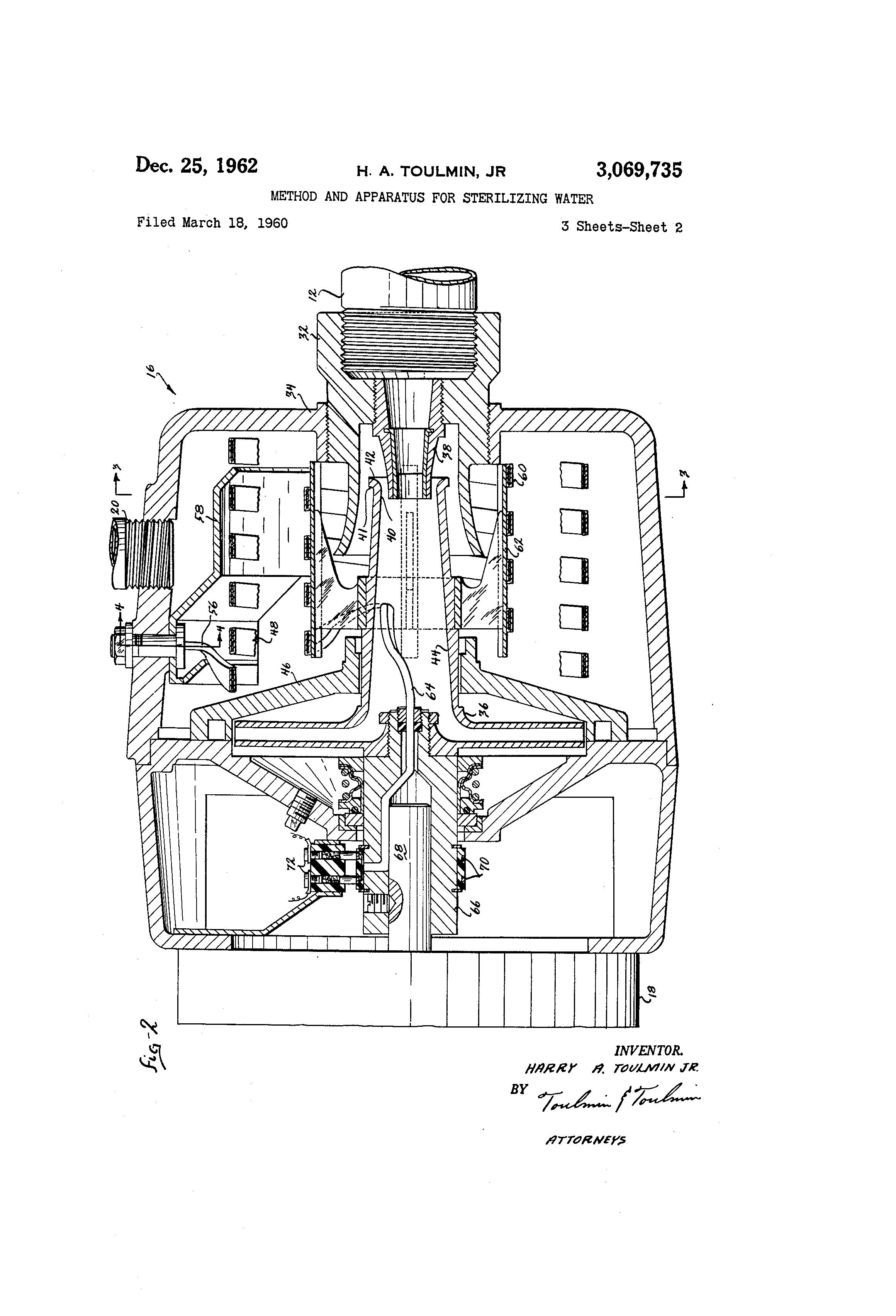 Patent Us3069735 Method And Apparatus For Sterilizing Water Cushman Hawk Wiring Diagram Drawing