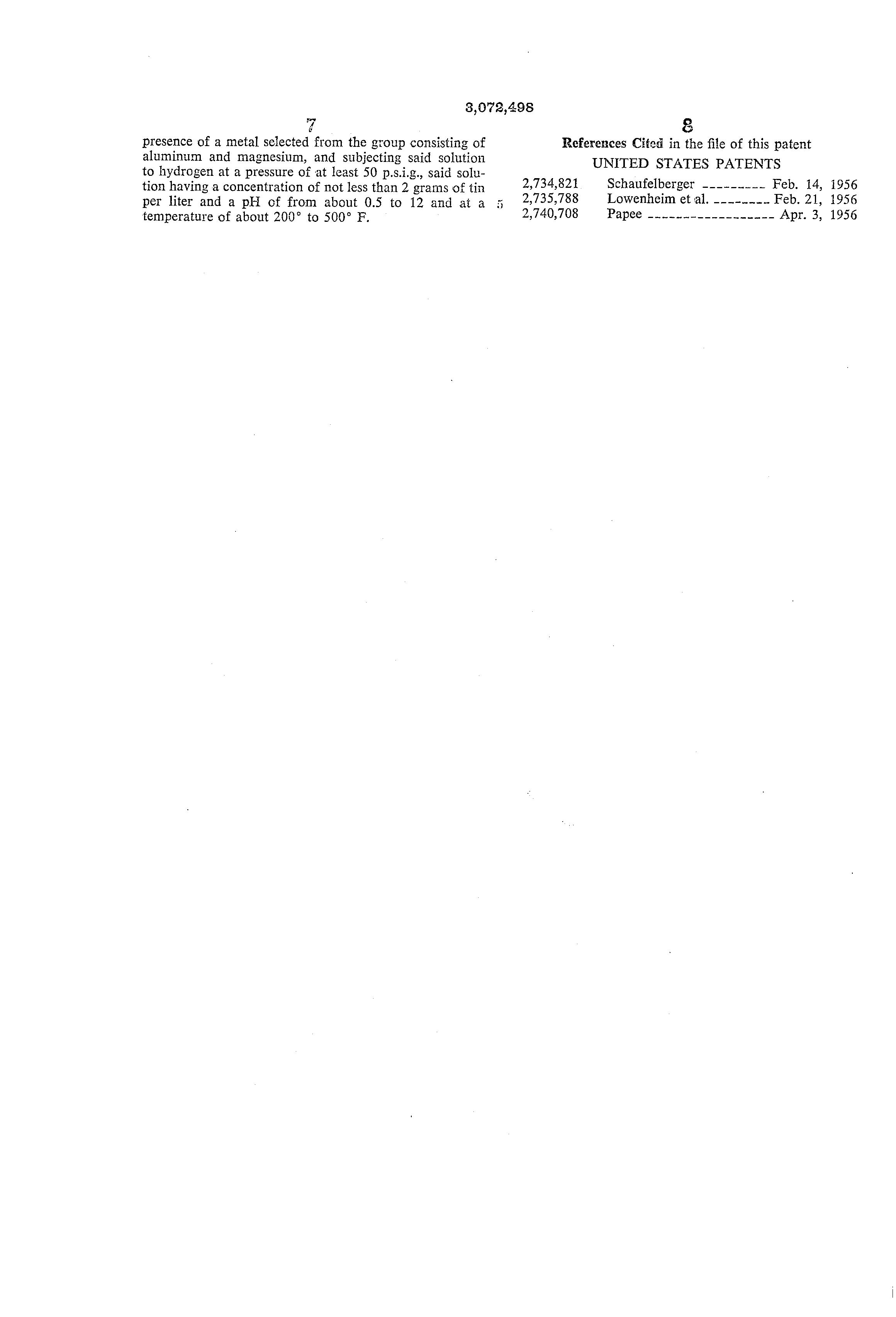 Brevet US3072498 - Method of tin plating copper - Google