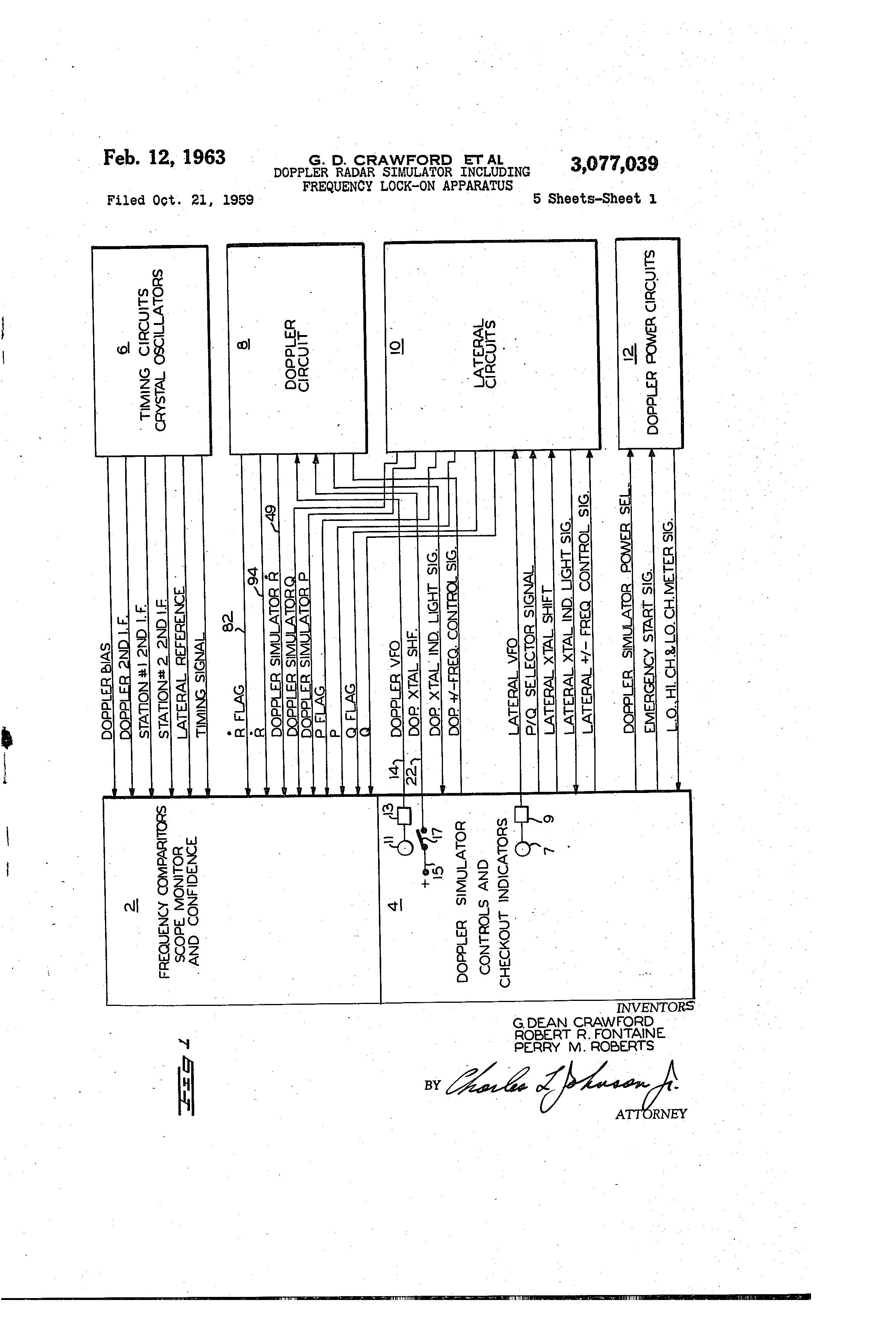 براءة الاختراع US3077039 - Doppler radar simulator including
