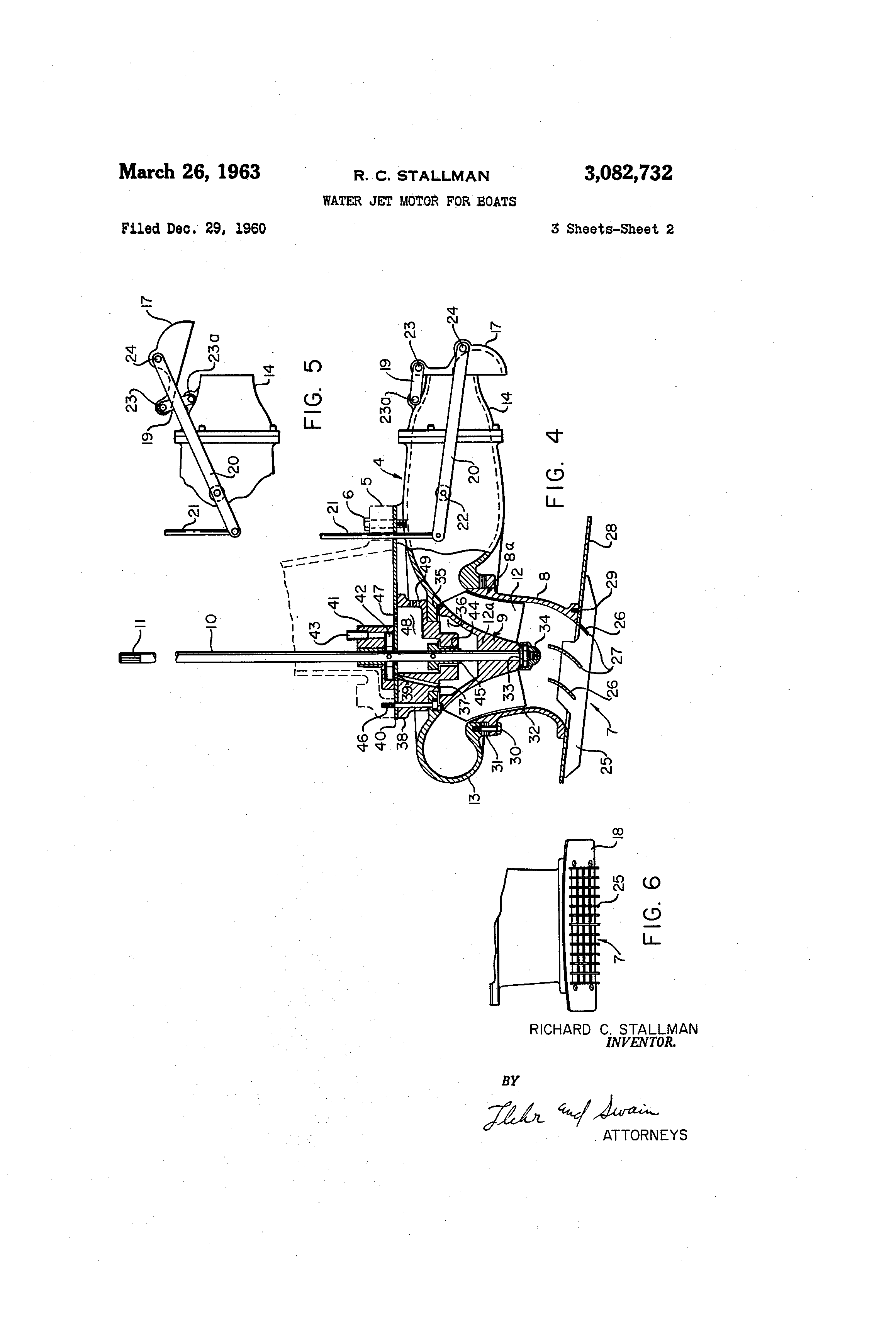patent us3082732 water jet motor for boats google patents