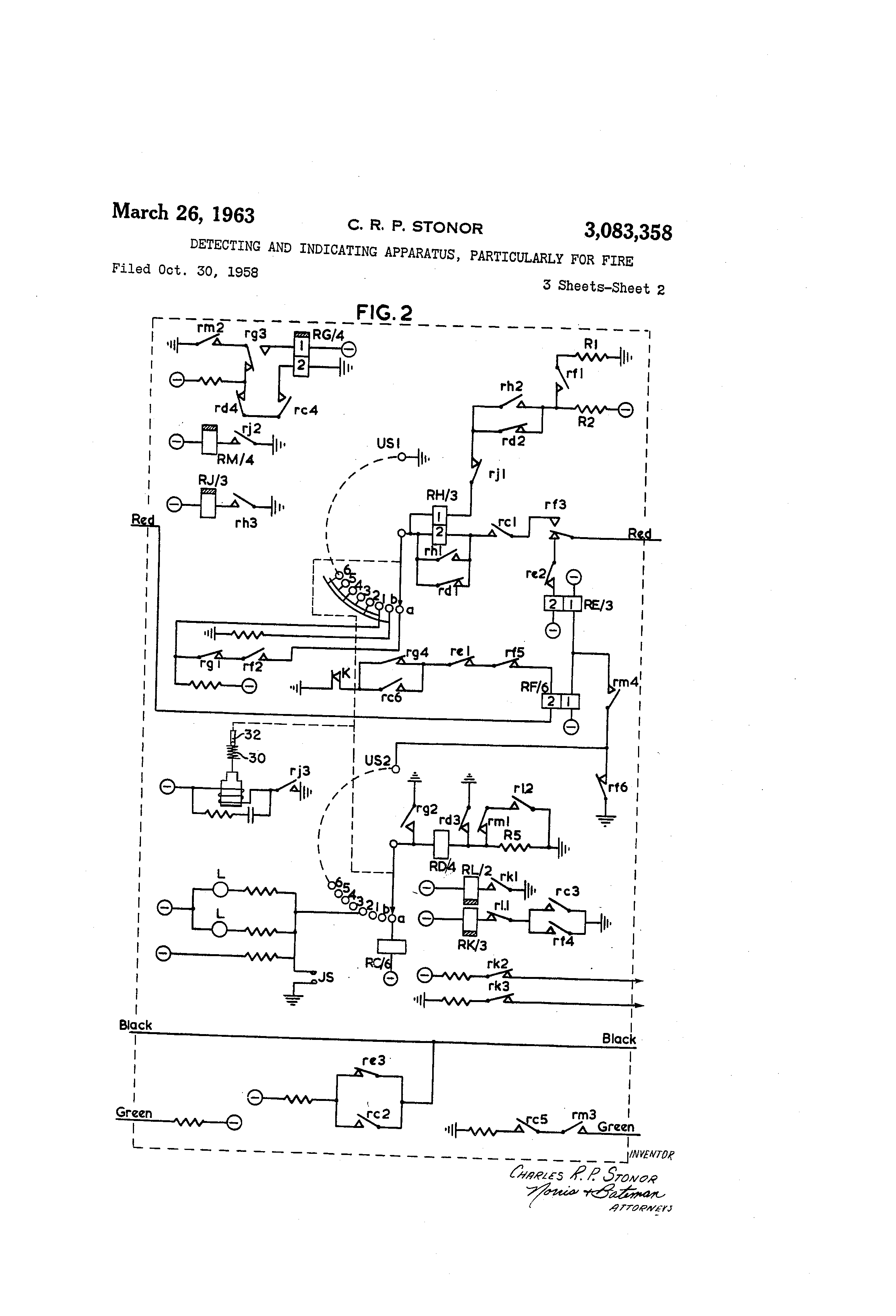 US3083358 1 patent us3083358 detecting and indicating apparatus gamewell fire alarm box wiring diagram at edmiracle.co