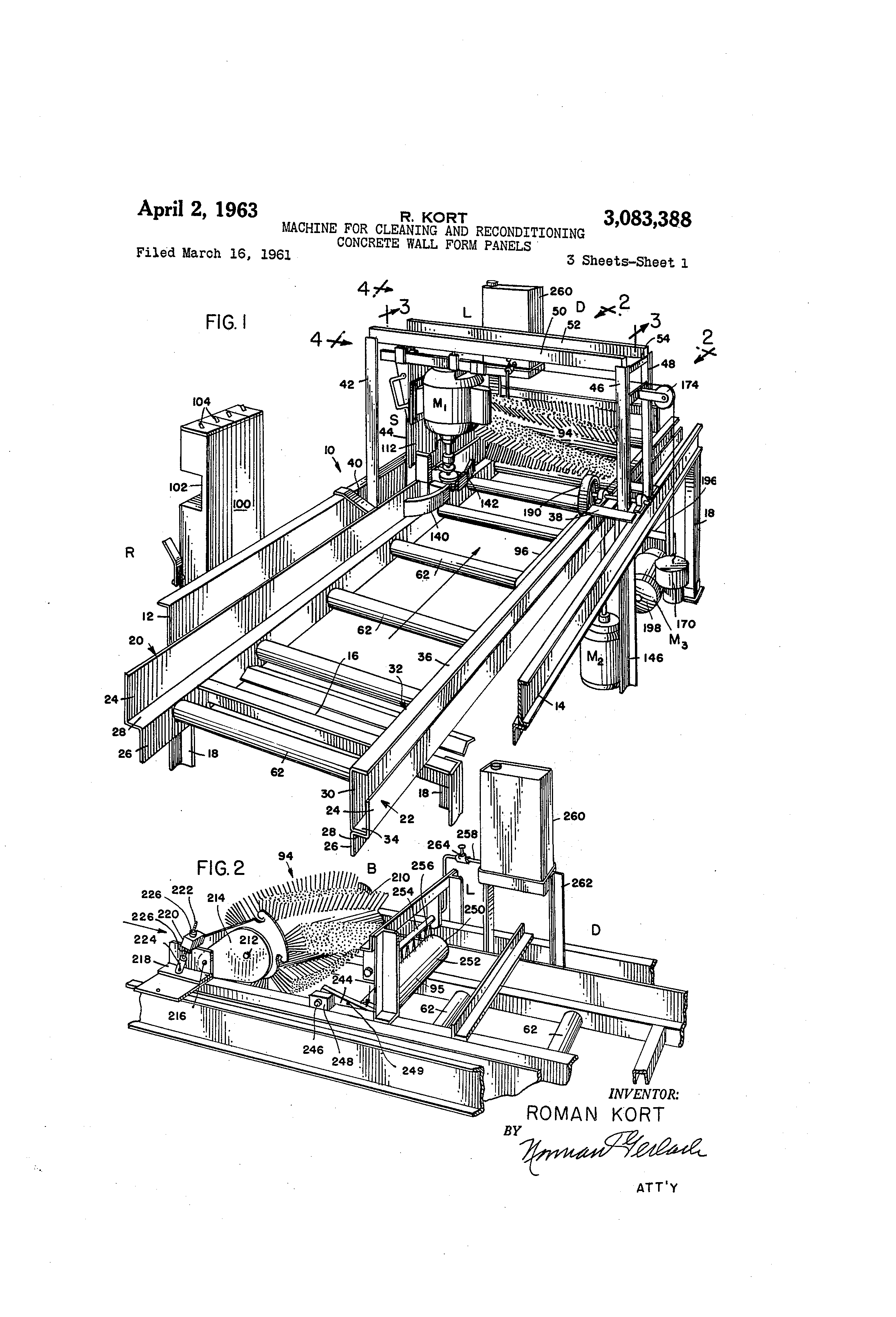 Patent US3083388 - Machine for cleaning and reconditioning ...