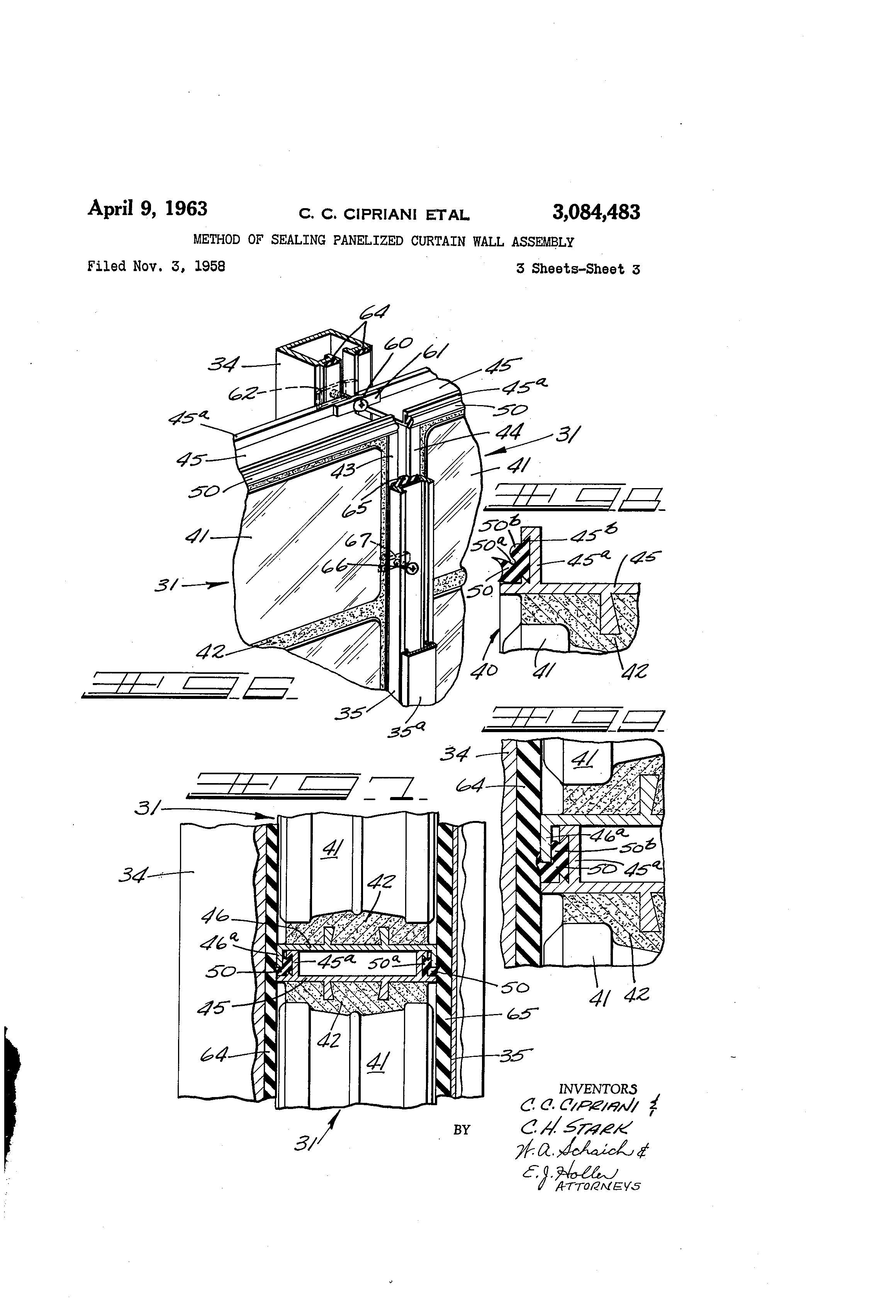 Curtain Wall Assembly : Patent us method of sealing panelized curtain