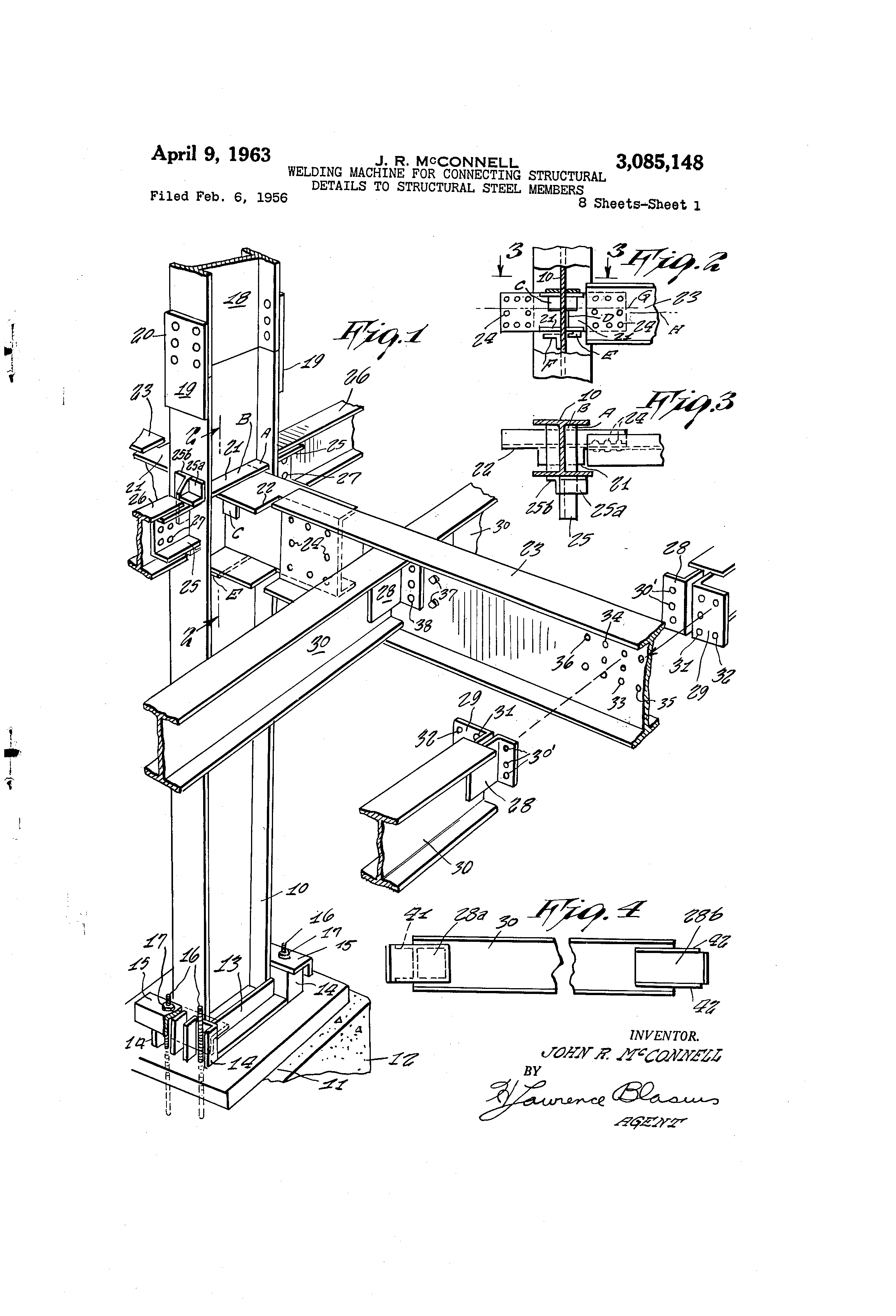 patent us welding machine for connecting structural patent drawing