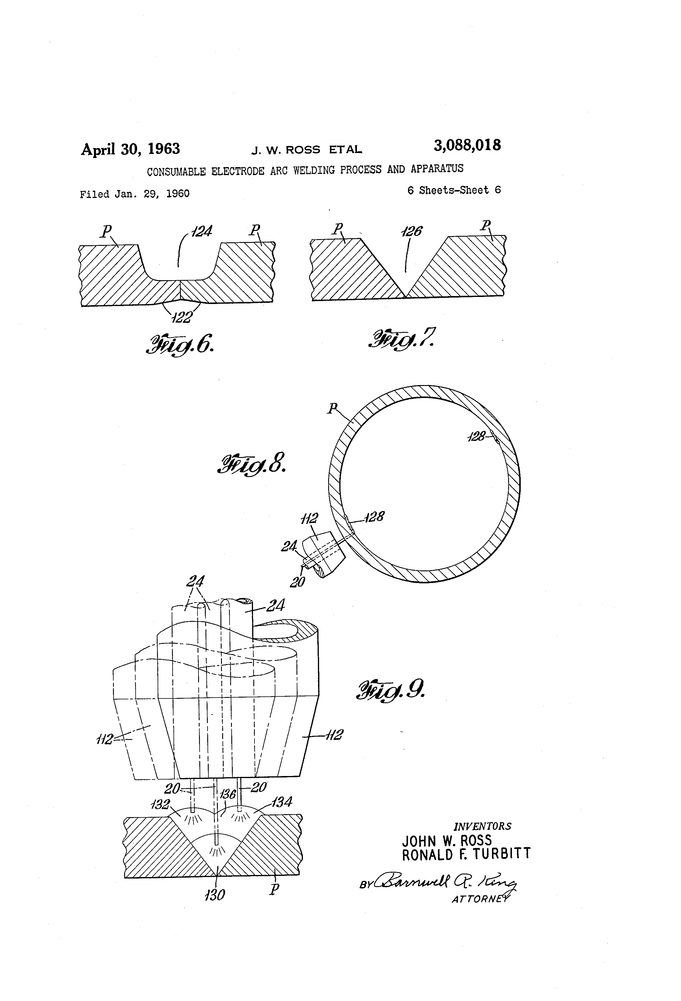 Patent Us3088018 Consumable Electrode Arc Welding Process And Diagram Of Drawing