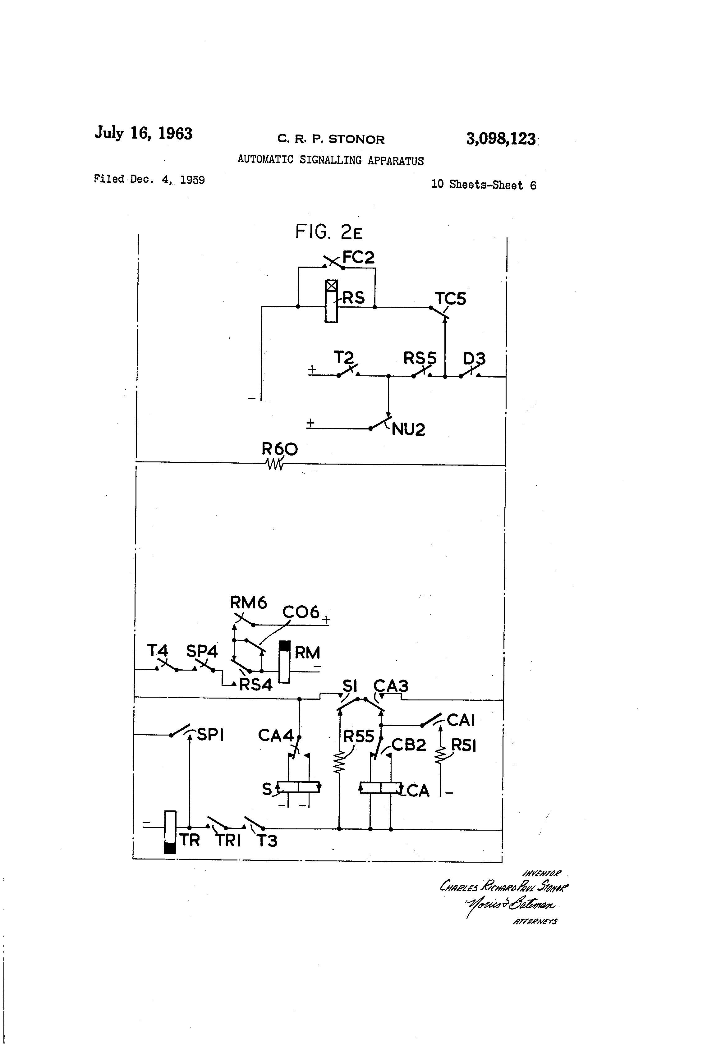 patent us3098123 automatic signalling apparatus google patents patent drawing