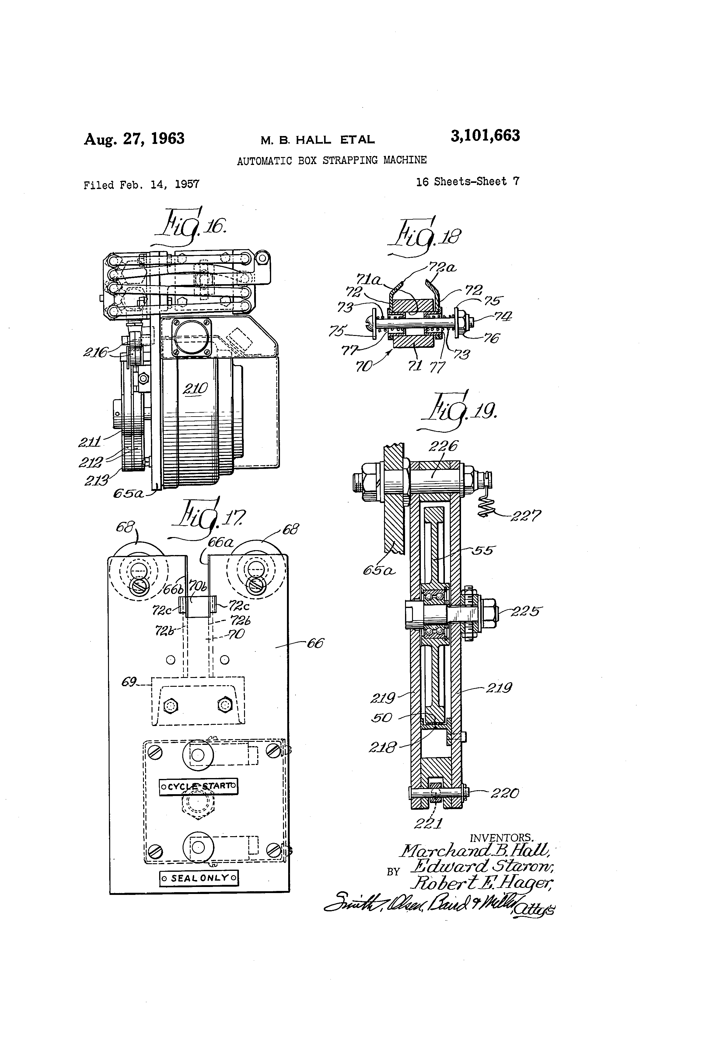 US3101663 6 patent us3101663 automatic box strapping machine google patents acme piu wiring diagram at panicattacktreatment.co