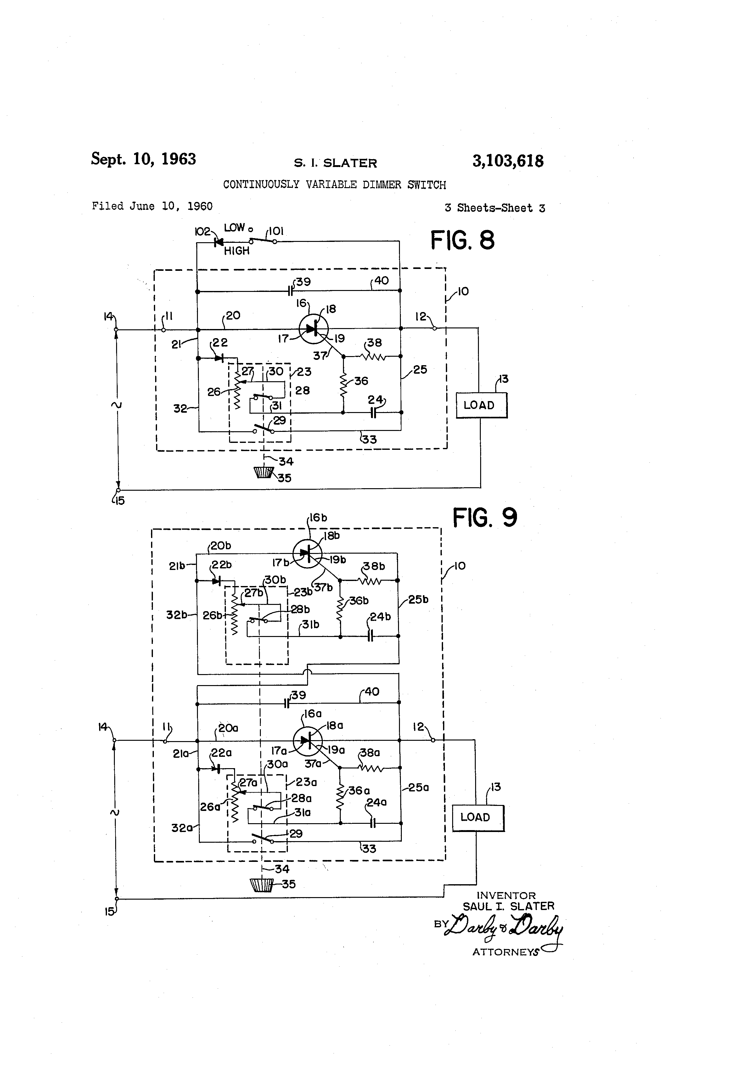 US3103618 2 patent us3103618 continuously variable dimmer switch google warrick controls wiring diagrams at gsmx.co