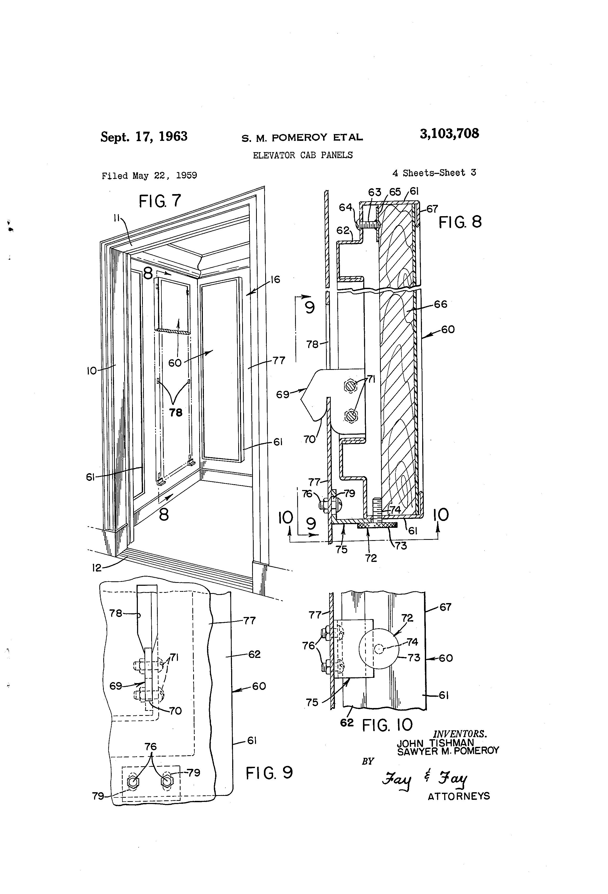 Patent Us3103708 Elevator Cab Panels Google Patents