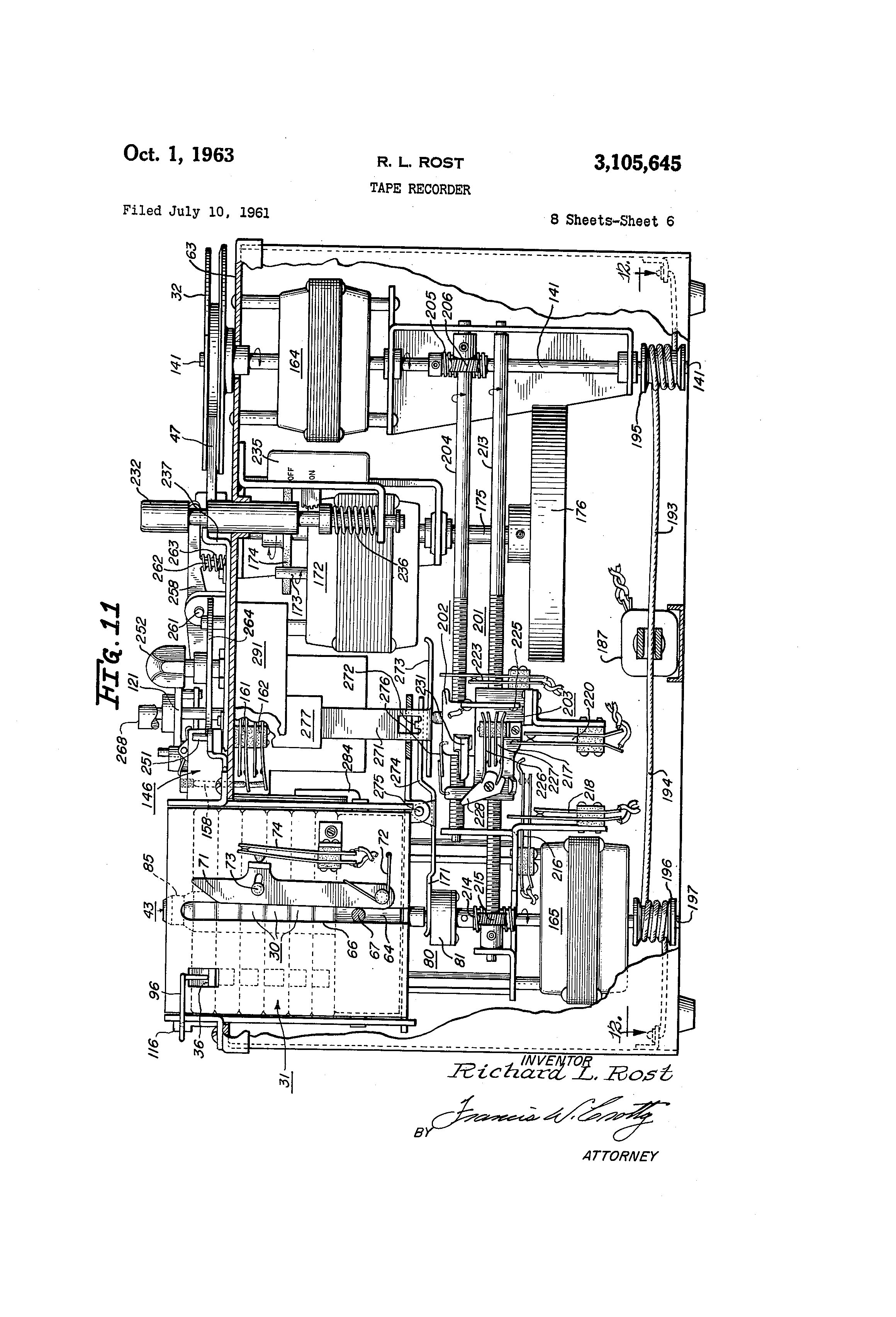 patent us3105645 - tape recorder - google patentsuche patent drawing  eagle  andco actuator wiring diagram