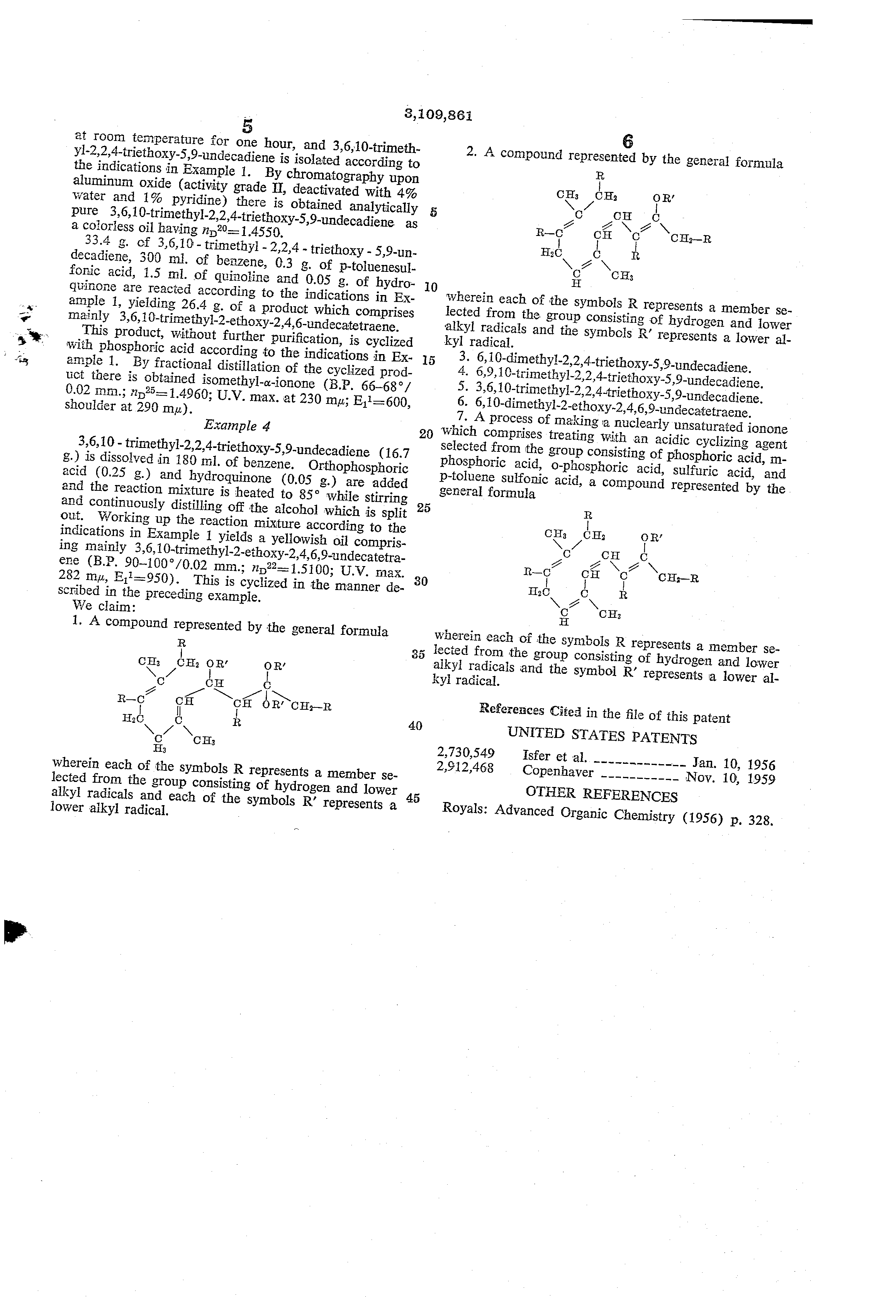 Patent us3109861 processes and intermediates for cyclic ketones patent drawing biocorpaavc