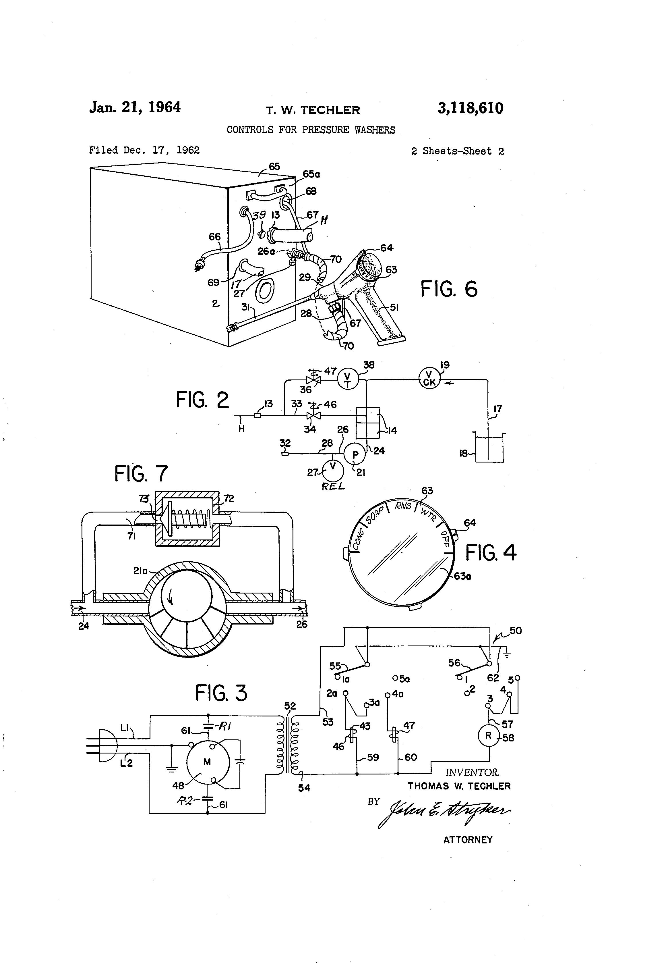US3118610 1 patent us3118610 controls for pressure washers google patents karcher pressure washer wiring diagrams at panicattacktreatment.co