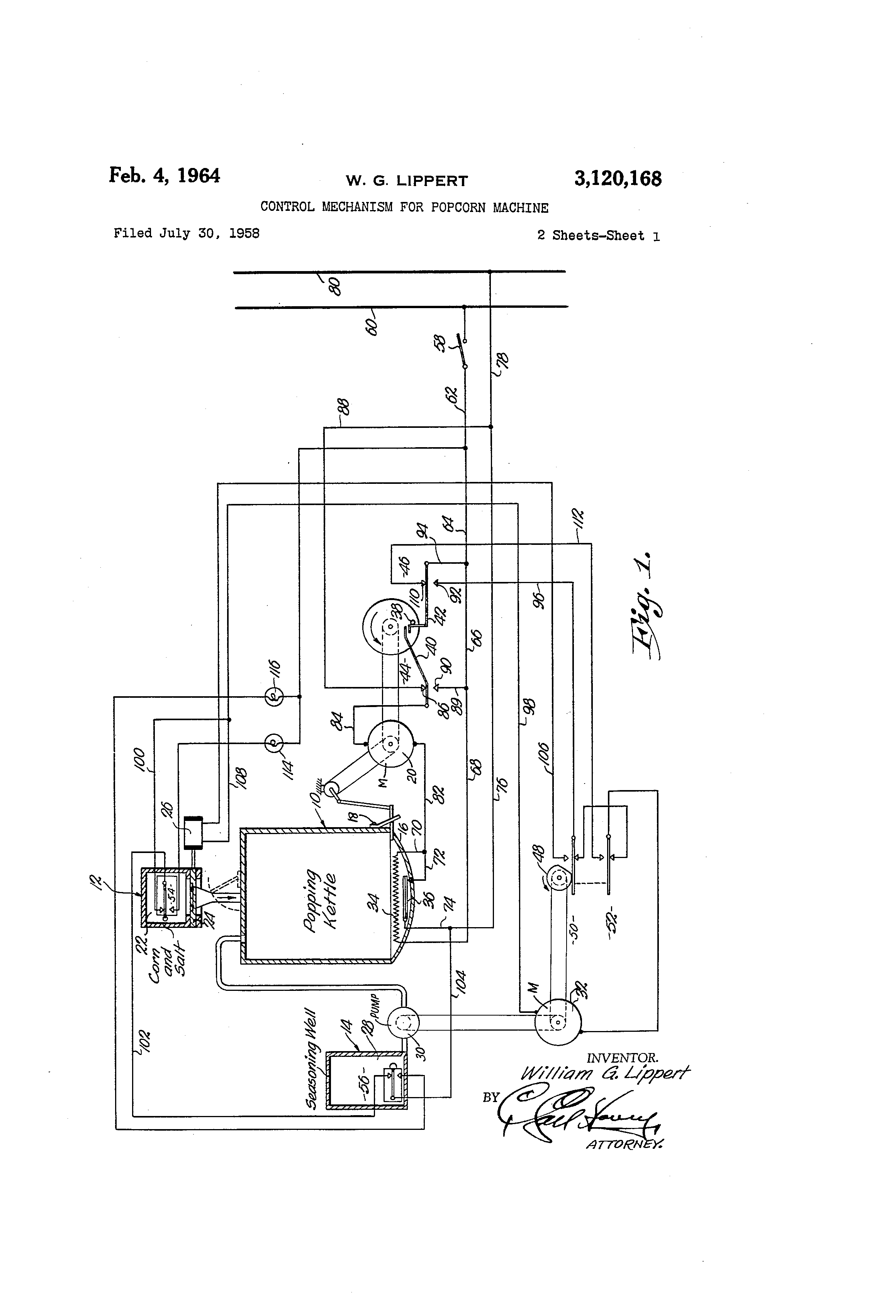 twin tub washing machine wiring diagram patent us3120168 - control mechanism for popcorn machine ... roosevelt popper popcorn machine wiring diagram