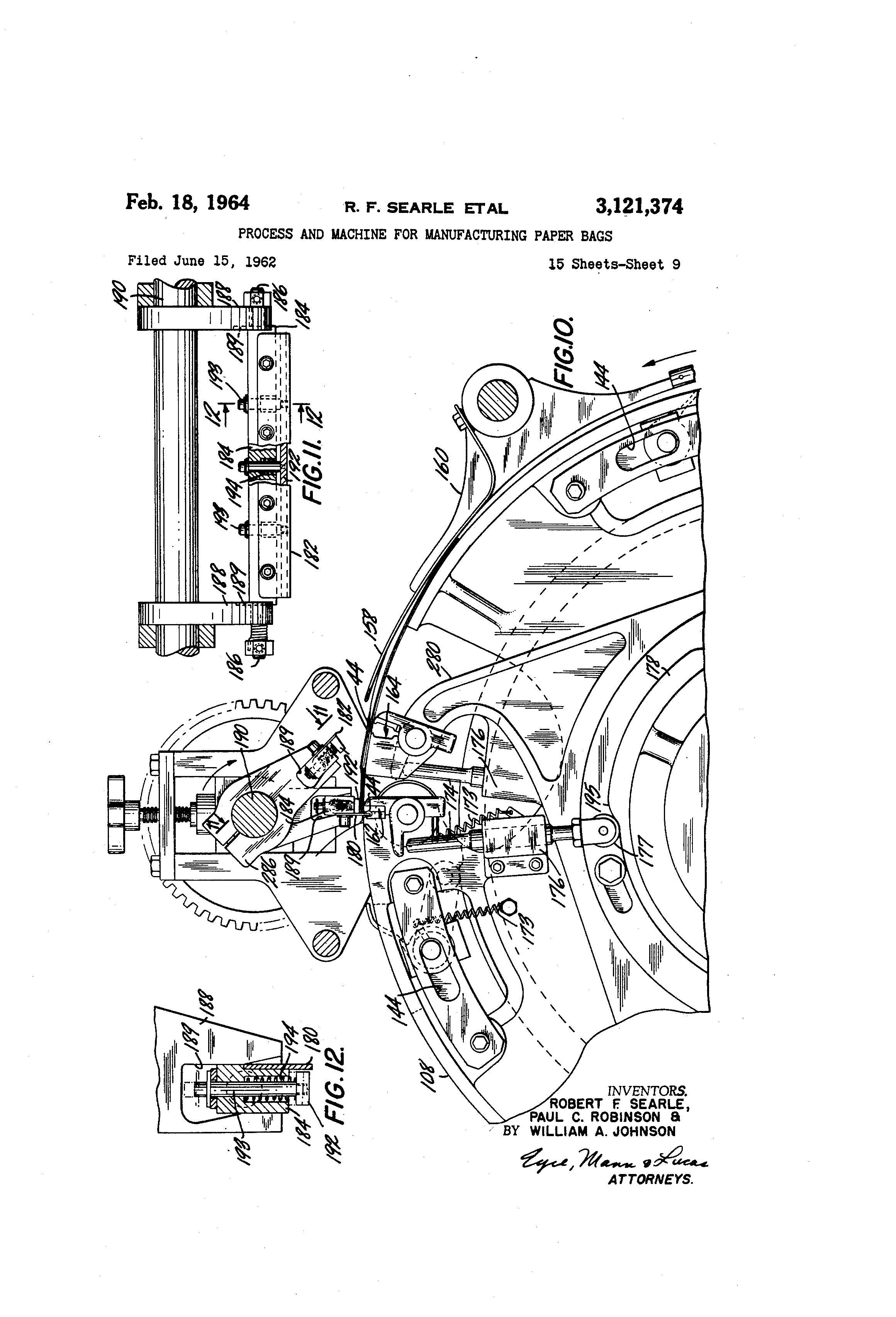 Paper bag manufacturing process - Patent Drawing
