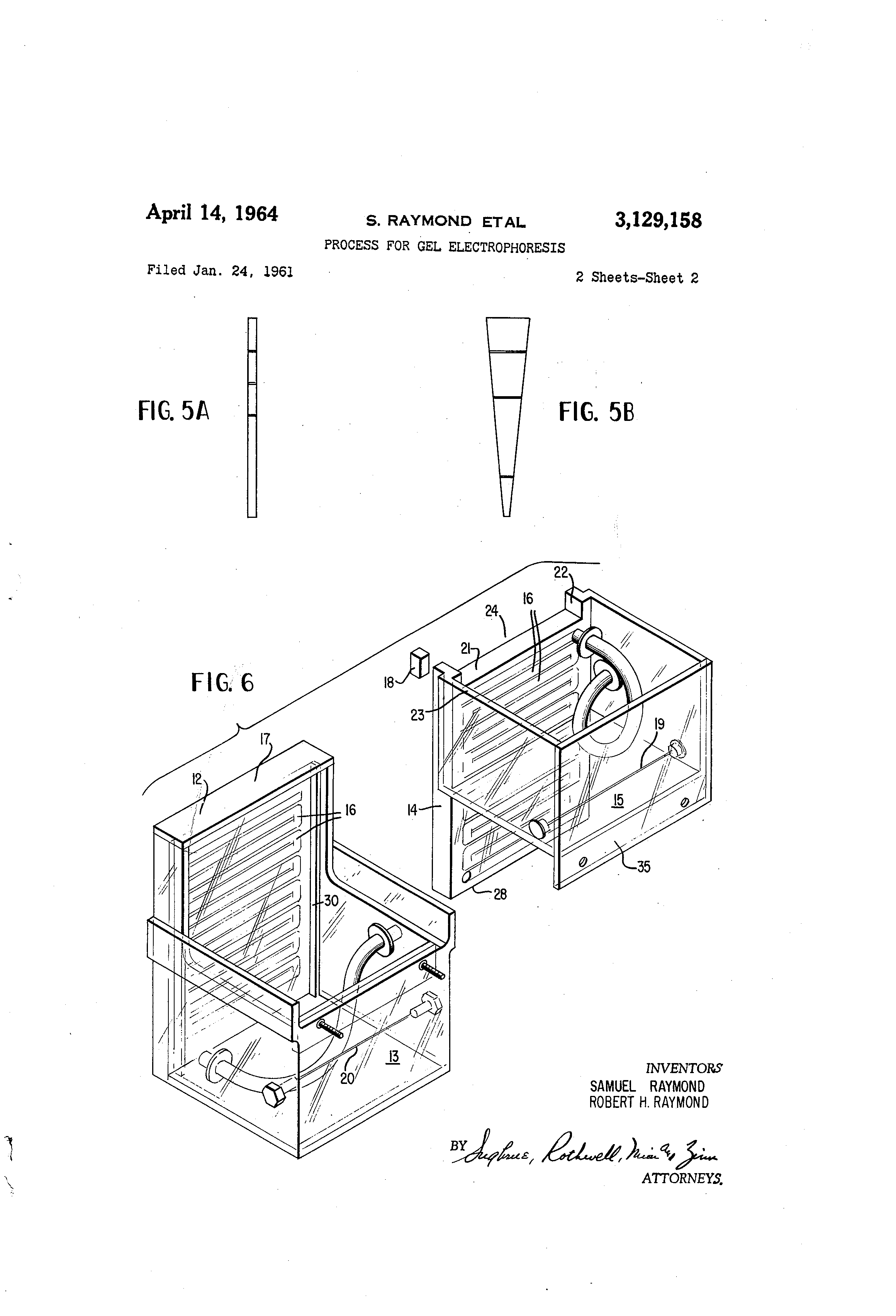 patent us3129158 - process for gel electrophoresis