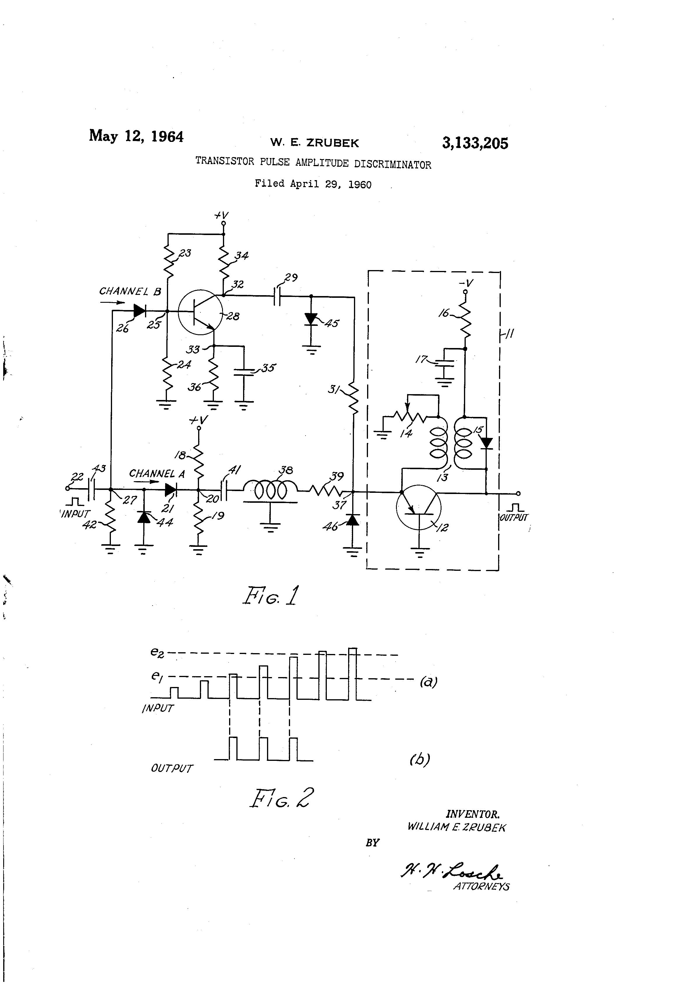 Patent Us3133205 Transistor Pulse Amplitude Discriminator Google Two Atomic Frequency Standard Drawing