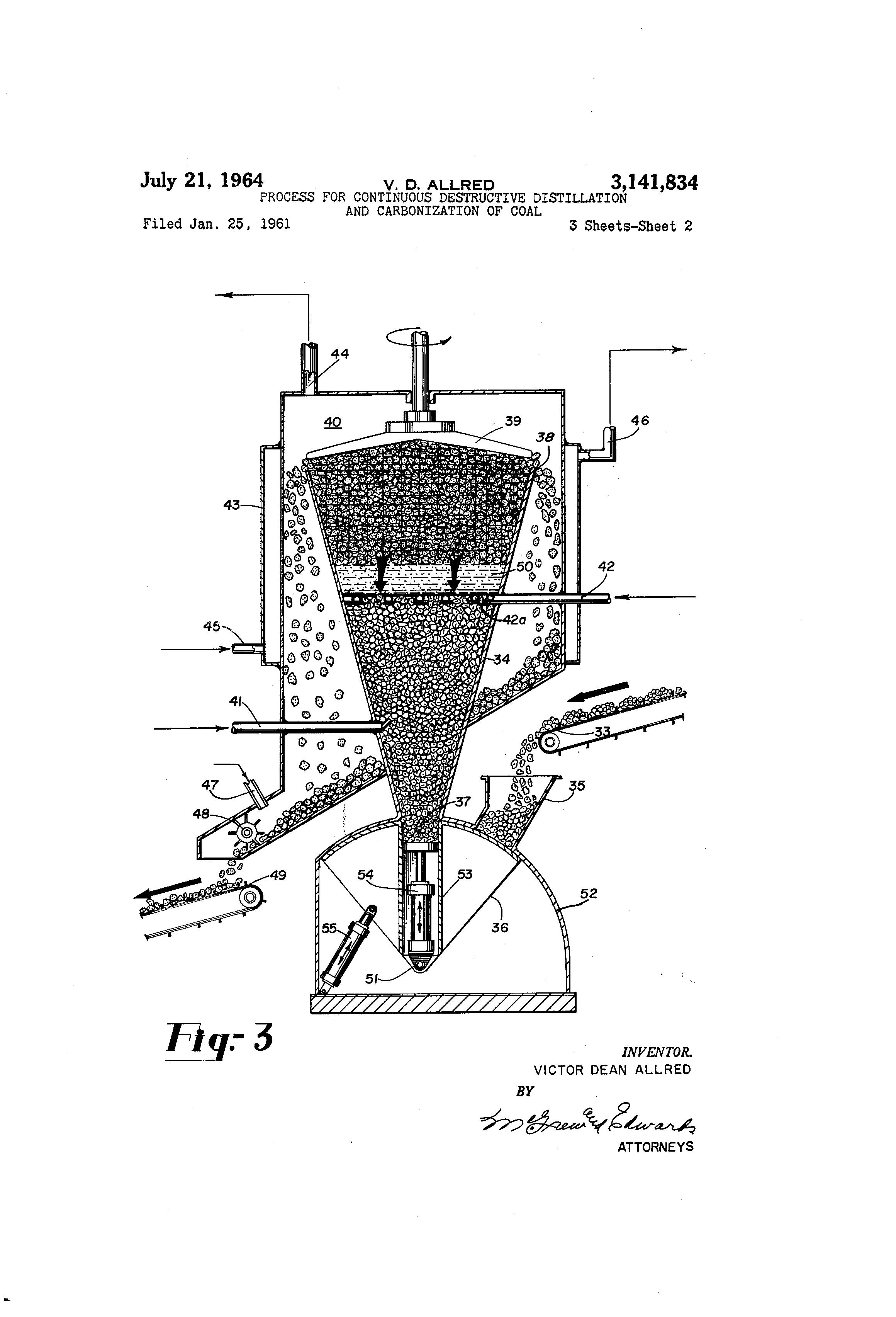 Patent US3141834 - Process for continuous destructive ...