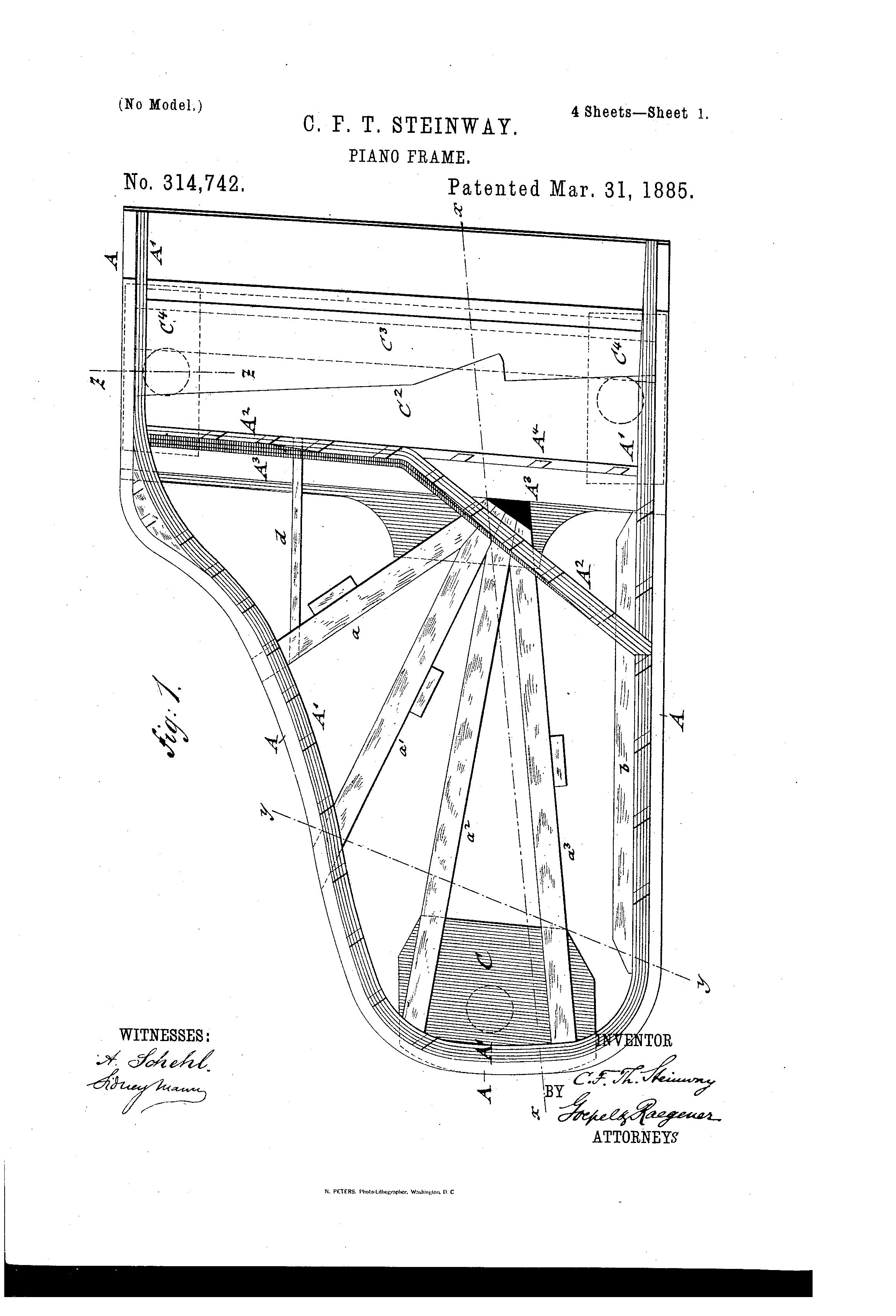patent us314742 - steinway