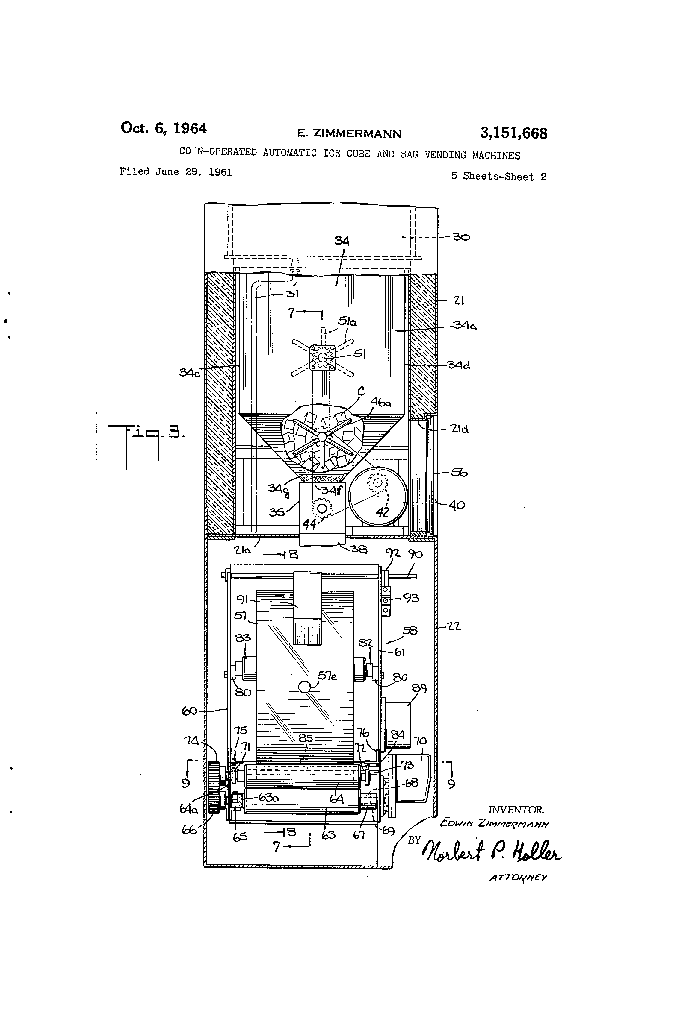 US3151668 1 patent us3151668 coin operated automatic ice cube and bag vending machine wiring diagram at reclaimingppi.co