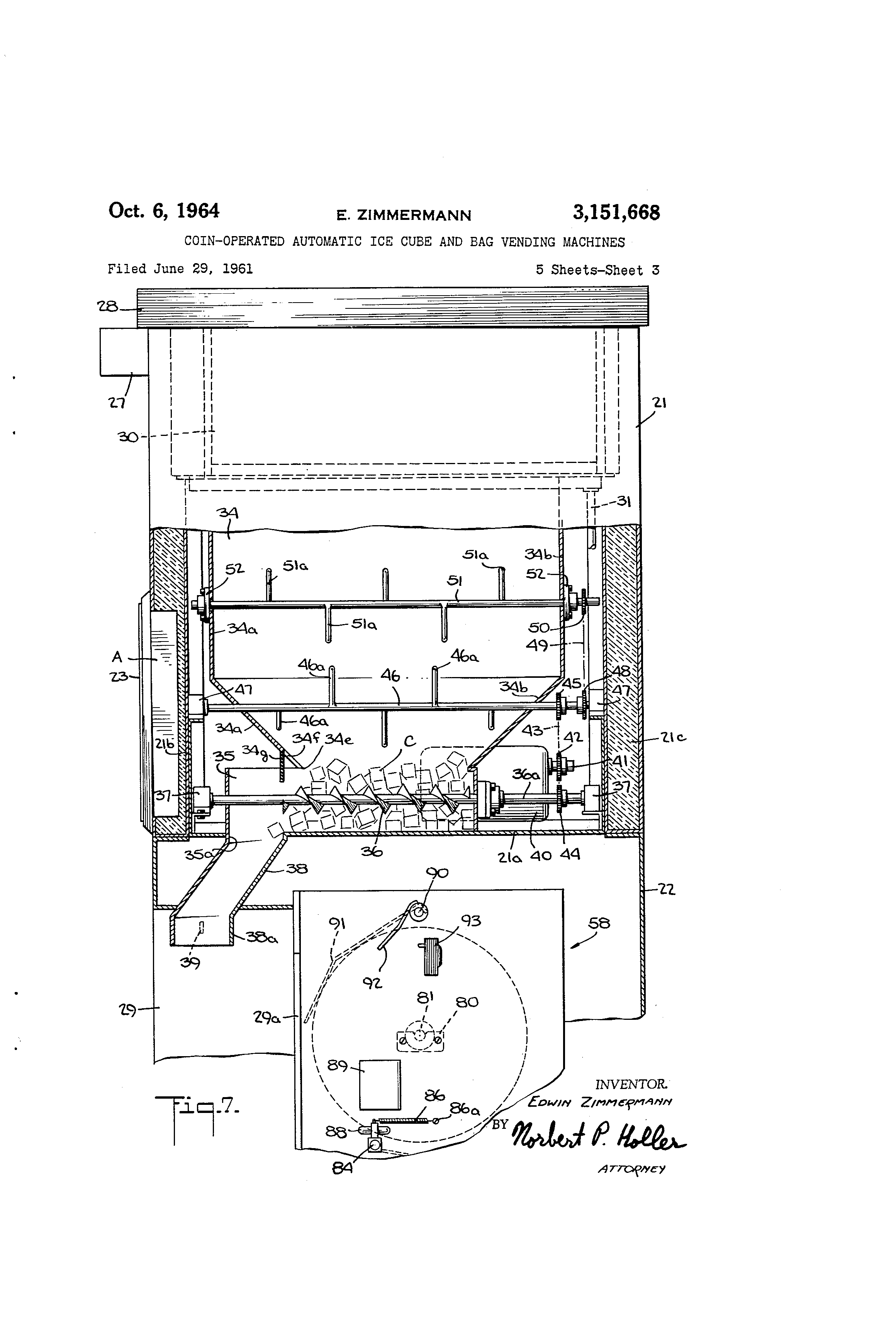 US3151668 2 patent us3151668 coin operated automatic ice cube and bag vending machine wiring diagram at reclaimingppi.co