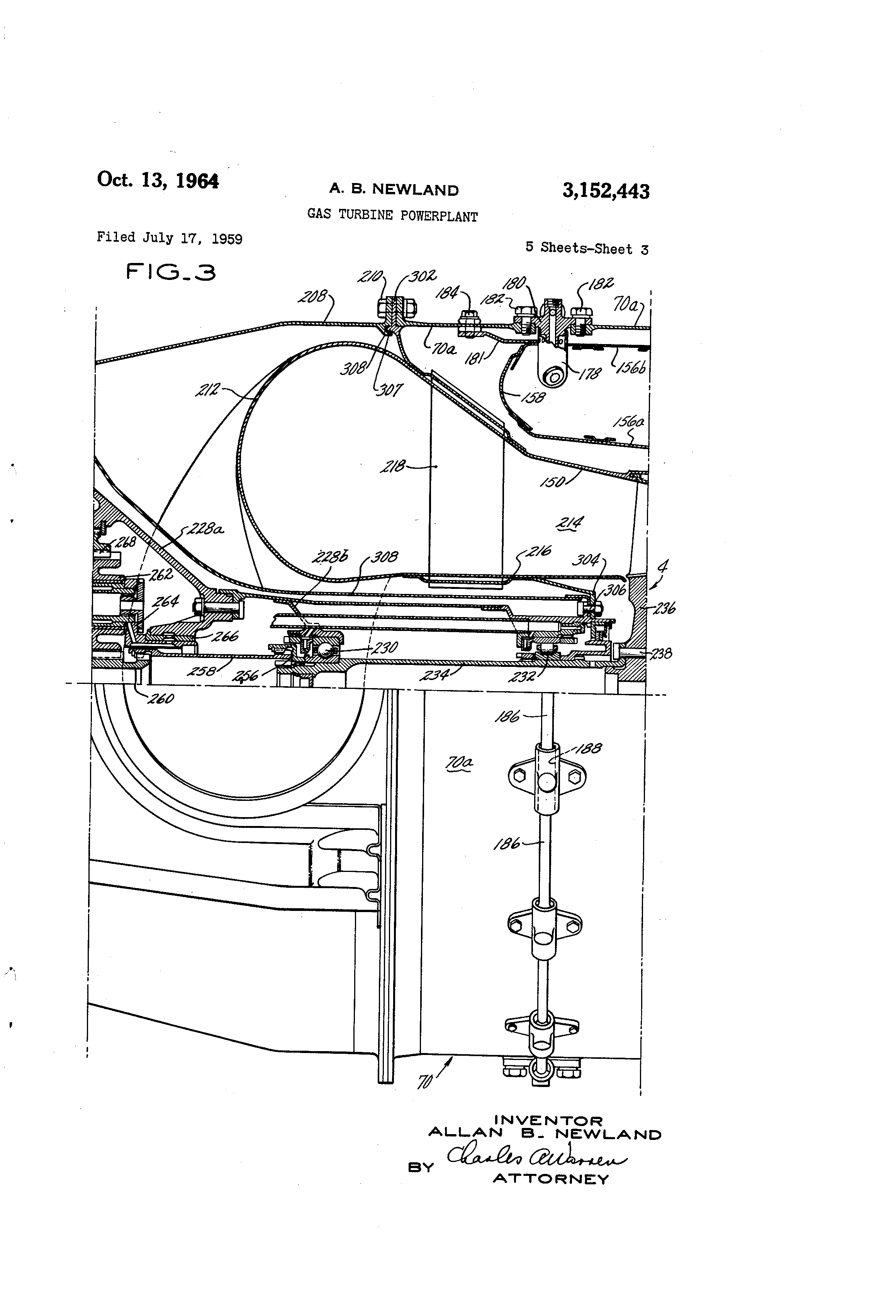 Patent US Gas turbine powerplant Google Patents