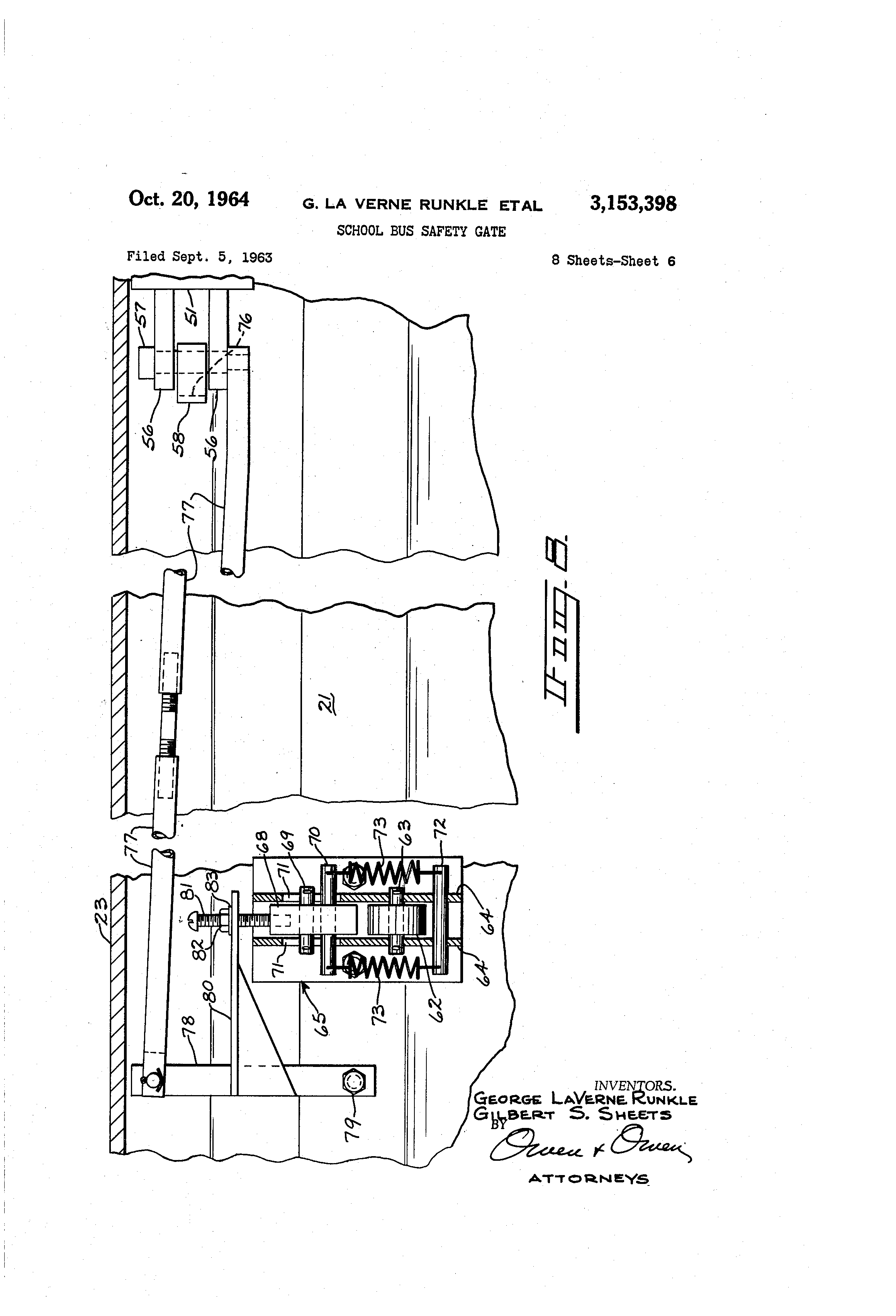 patent us school bus safety gate patents patent drawing