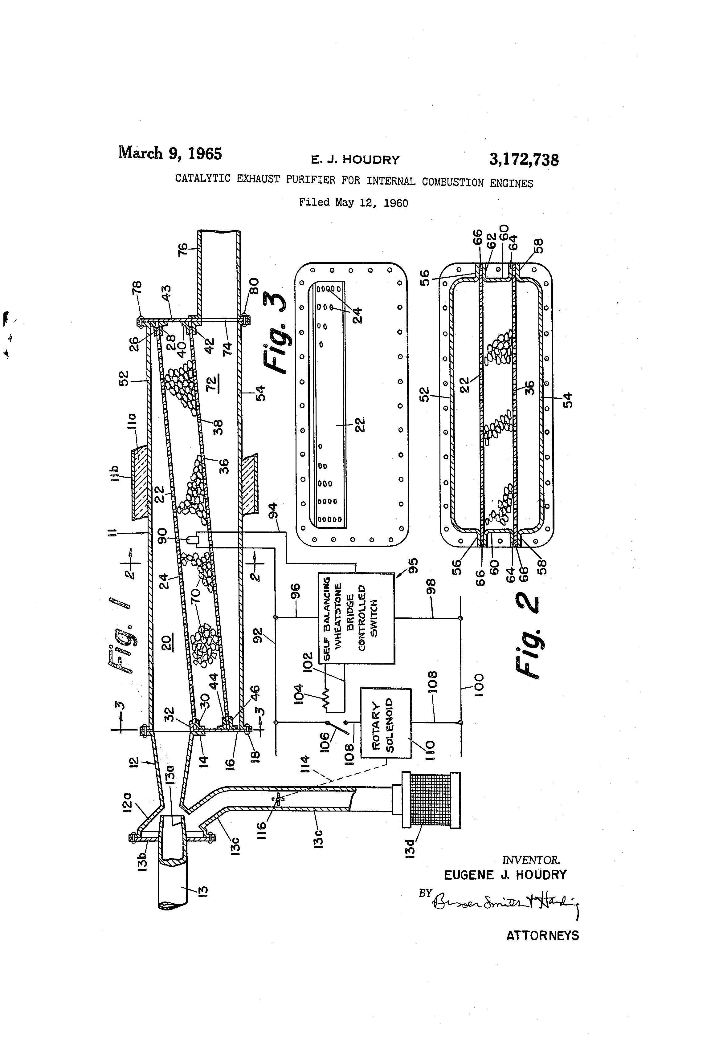 Patent Us3172738 Catalytic Exhaust Purifier For Internal External Combustion Engine Diagram Drawing