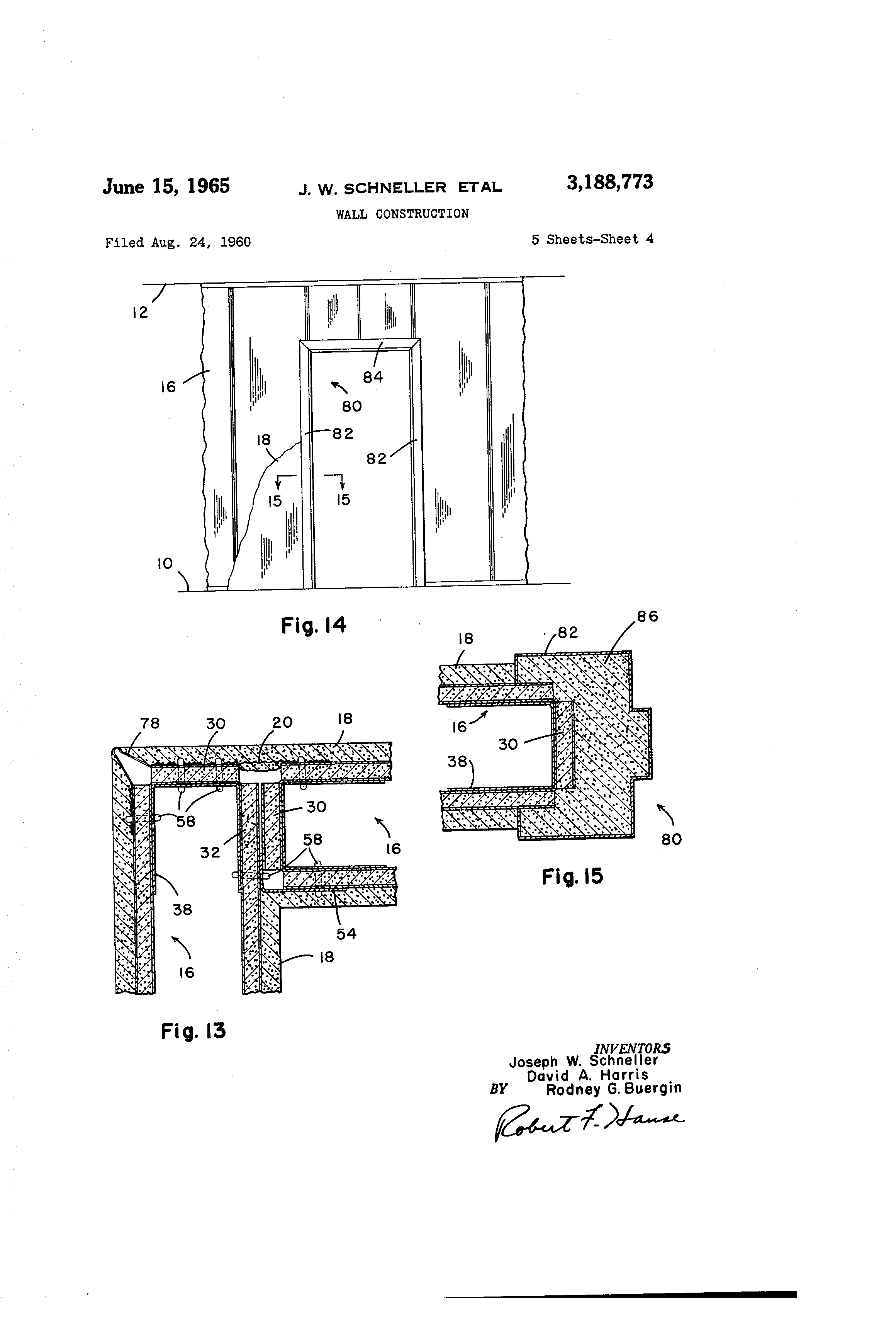 Wall Construction In Us : Patent us wall construction google patents