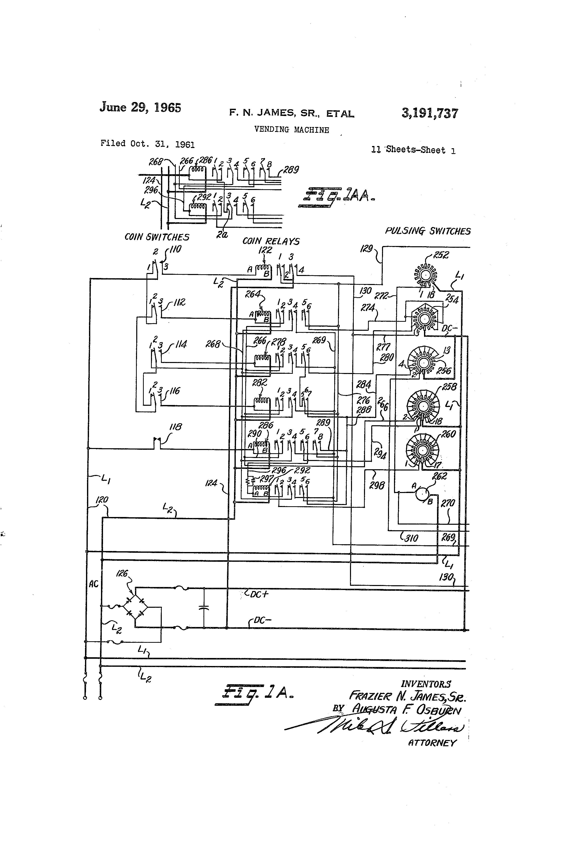 براءة الاختراع US3191737 - Vending machine - براءات اختراع