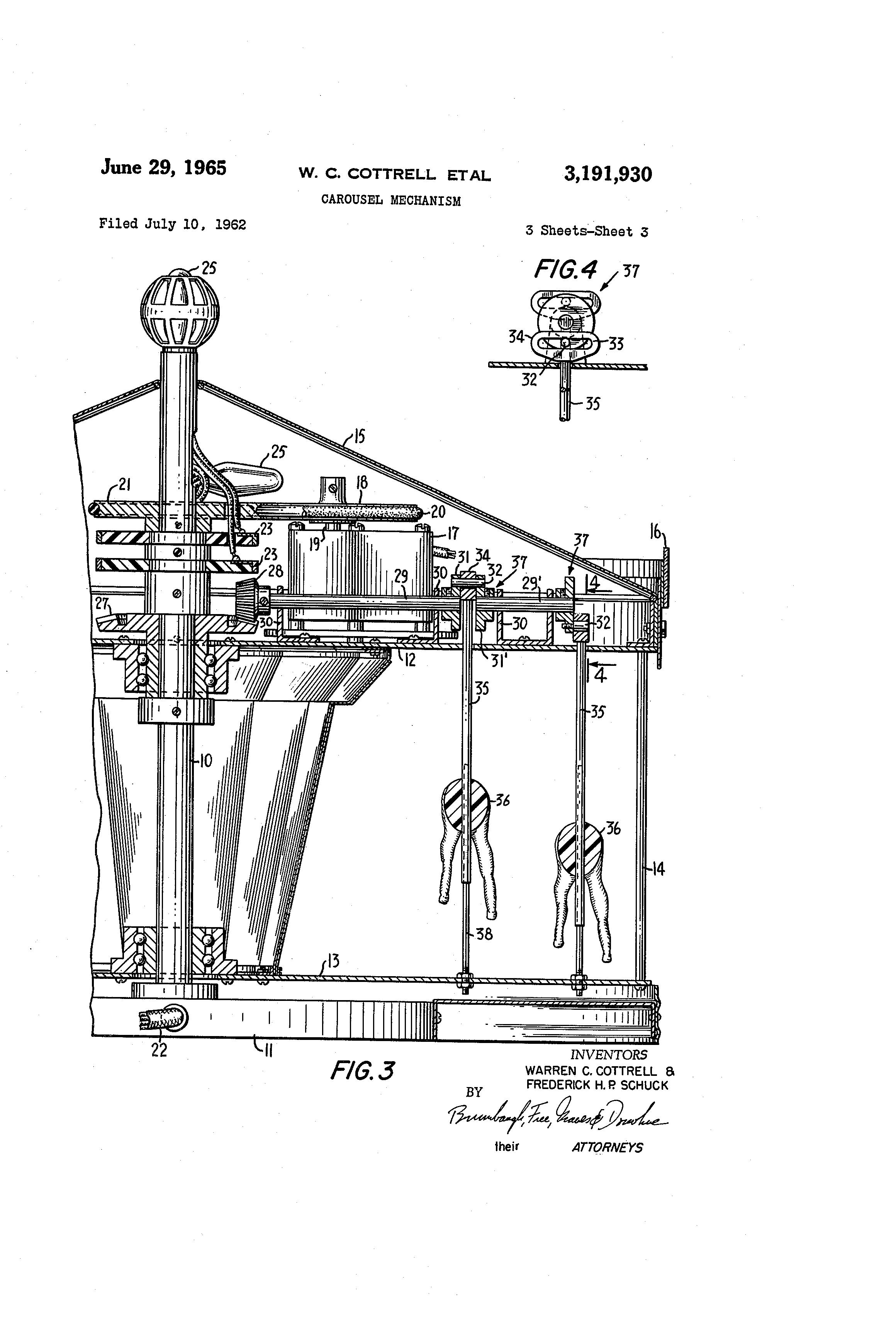 Patent Us3191930 Carousel Mechanism Google Patents