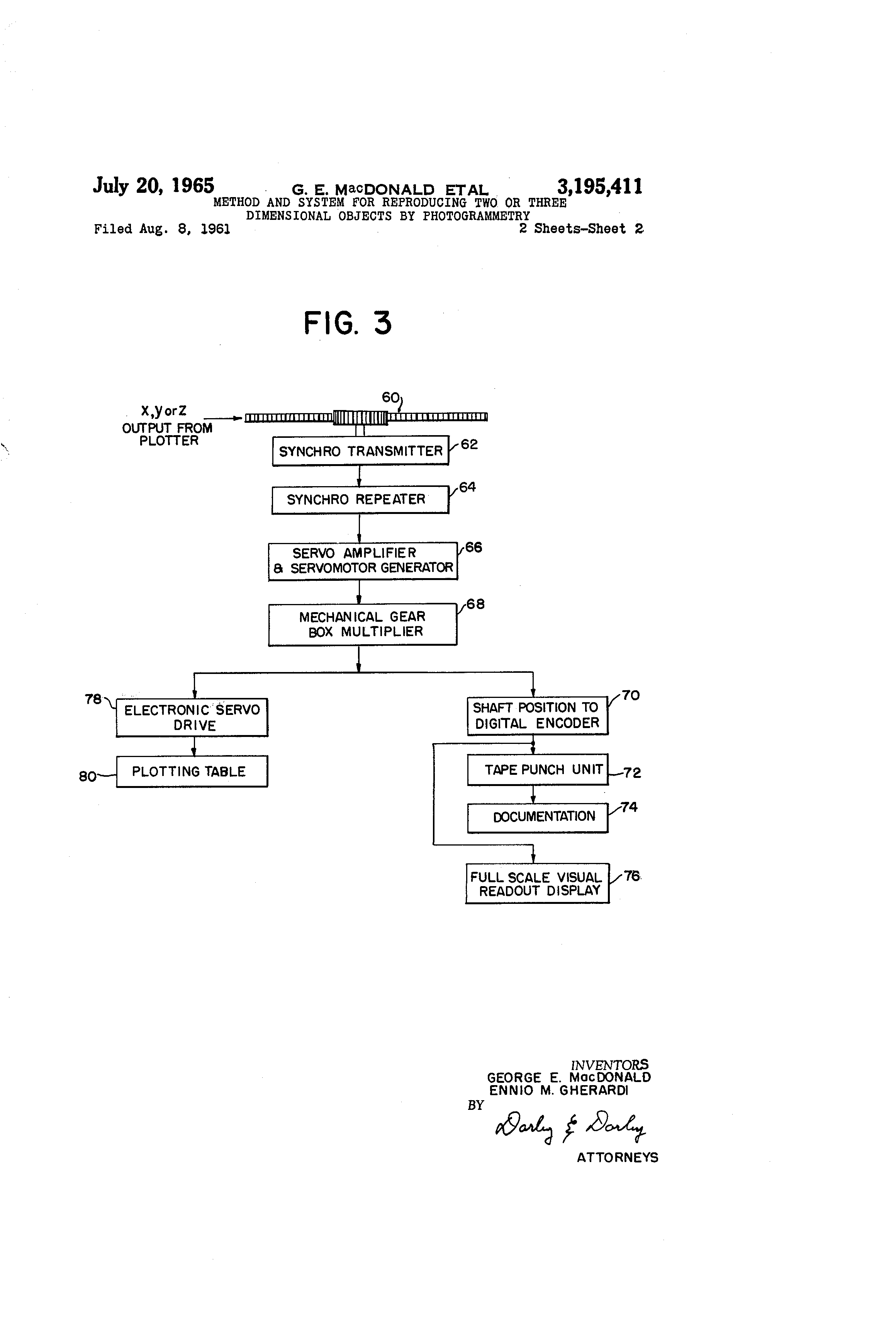 Patent Us3195411 Method And System For Reproducing Two