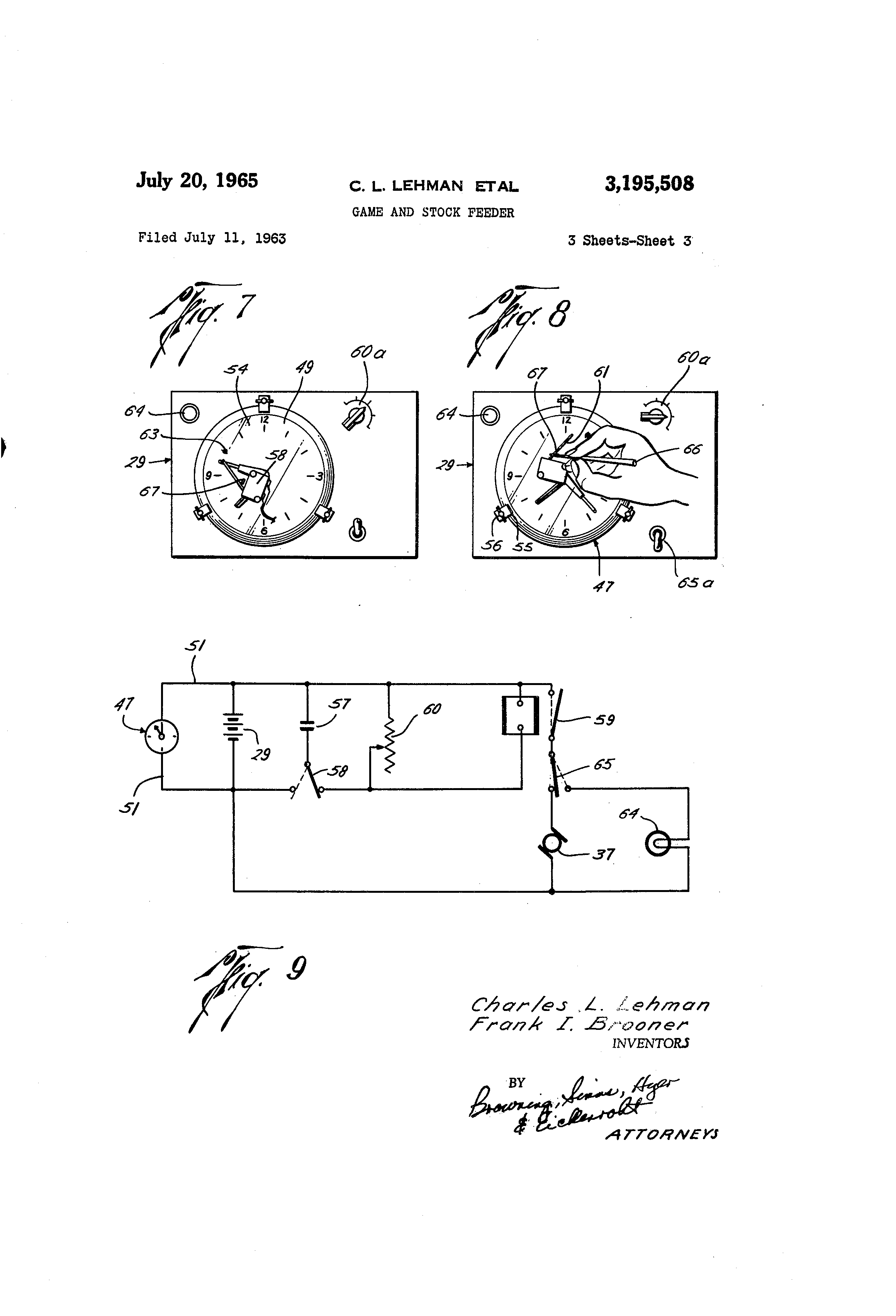 US3195508 2 patent us3195508 game and stock feeder google patents deer feeder wiring diagram at soozxer.org