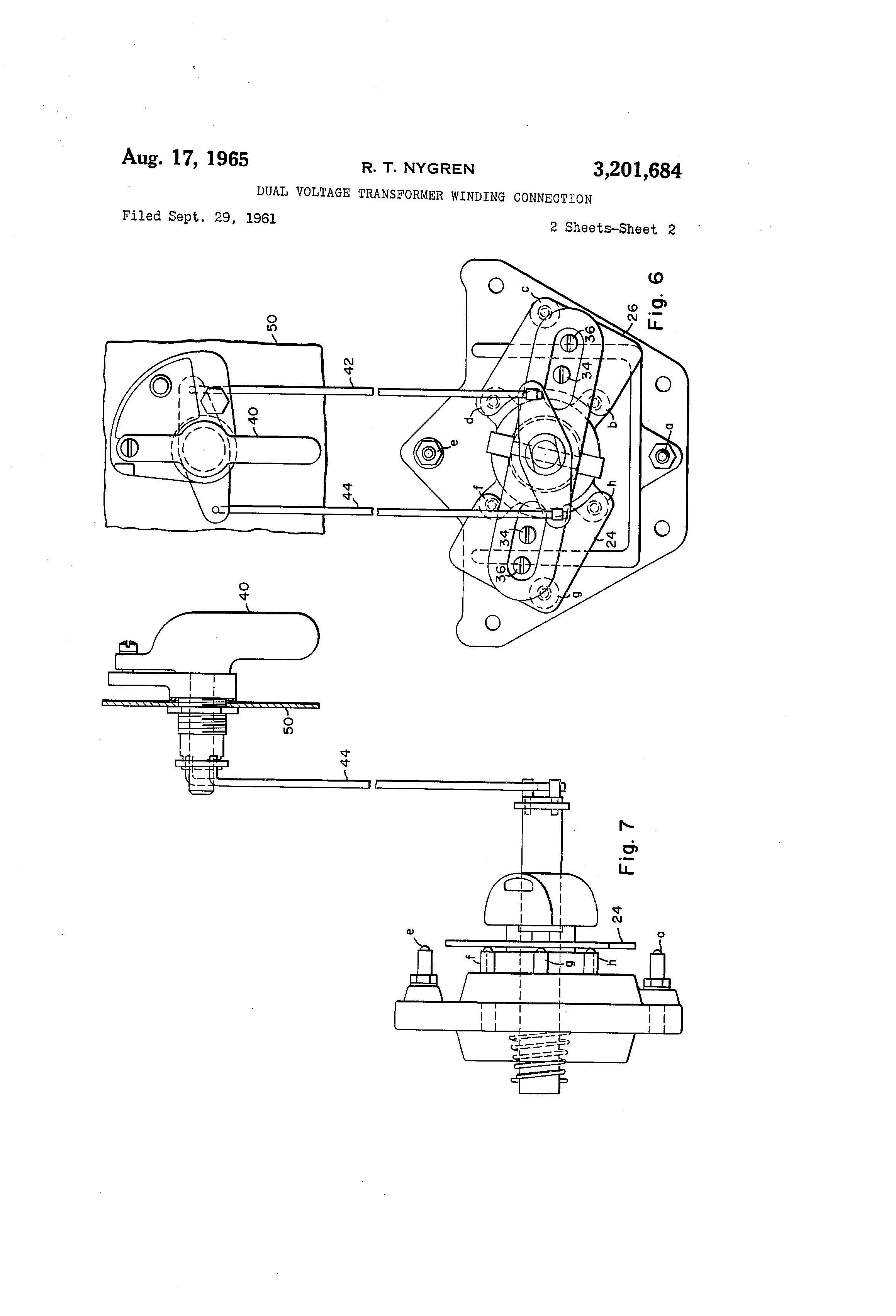 Patent US3201684 - Dual voltage transformer winding connection ...