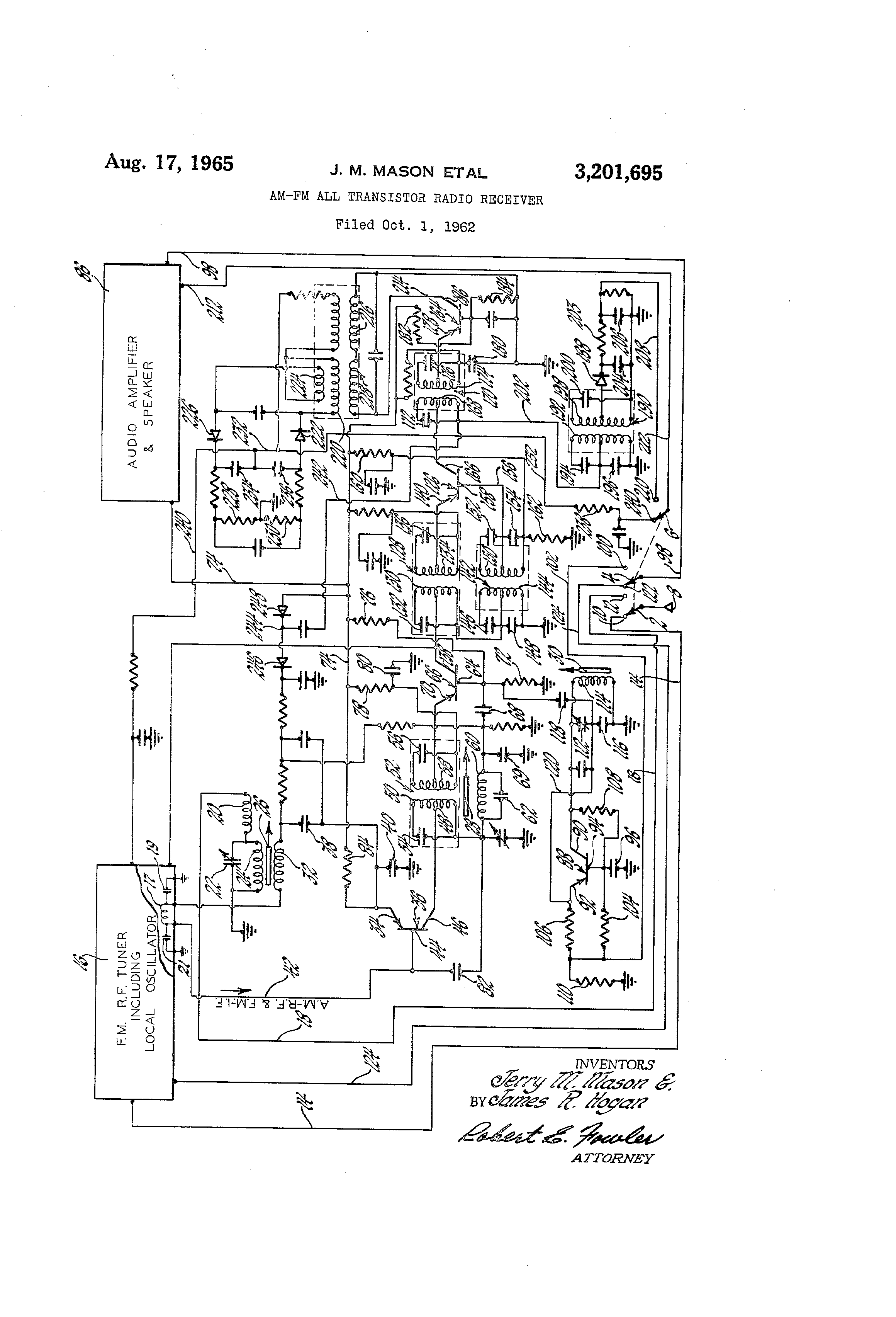 circuit diagram of transistor radio receiver