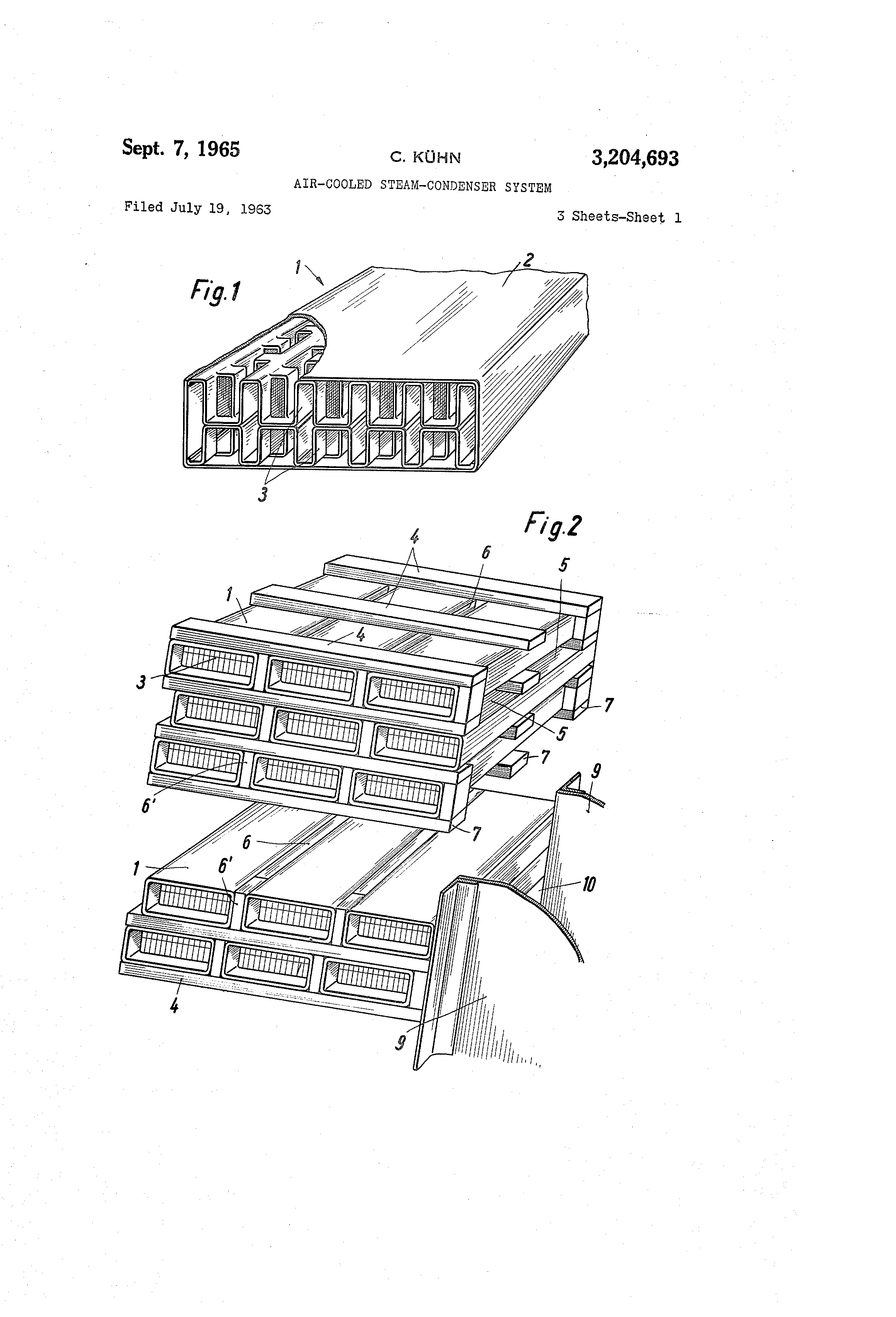 Patent US Air cooled steam condenser system Google Patents