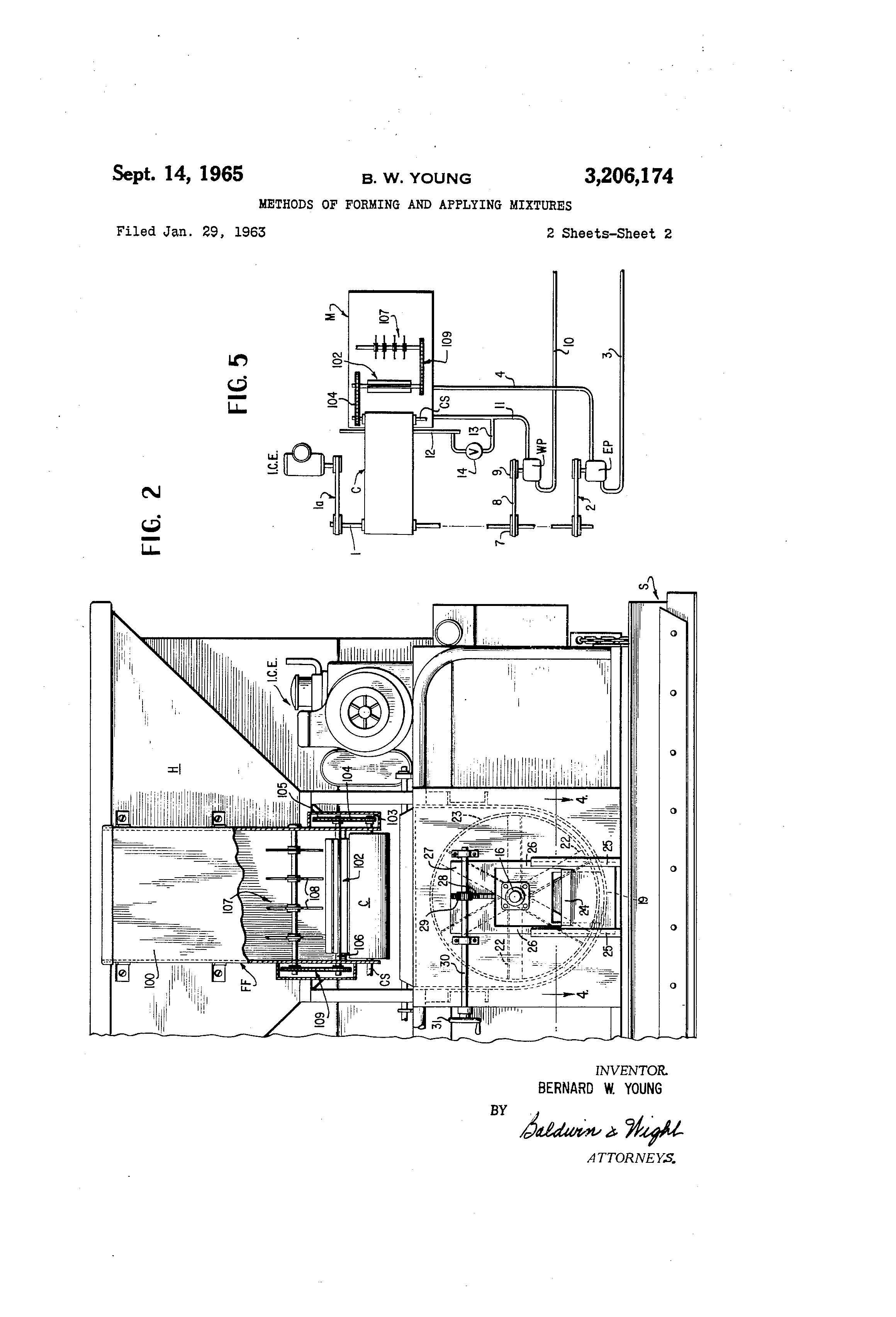 Us3206174 Methods Of Forming And Applying Mixtures 3206 Cat Engine Diagram Patent Drawing
