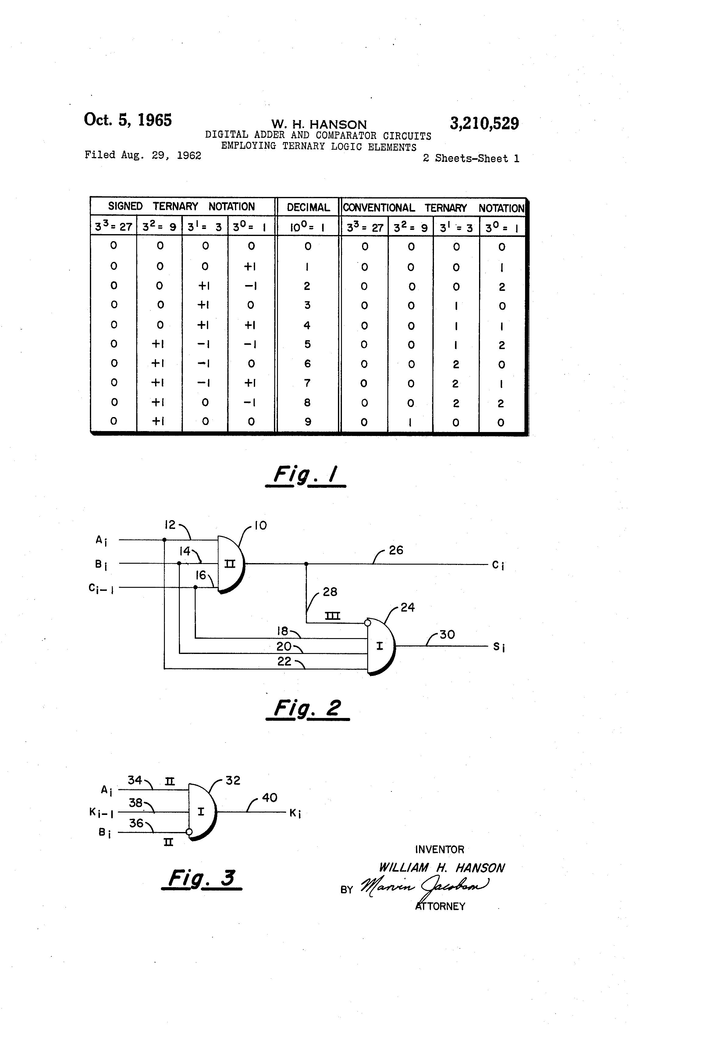 Digital Adder Circuits Best Secret Wiring Diagram Comparator Circuit Patent Us3210529 And Full 2 Bit