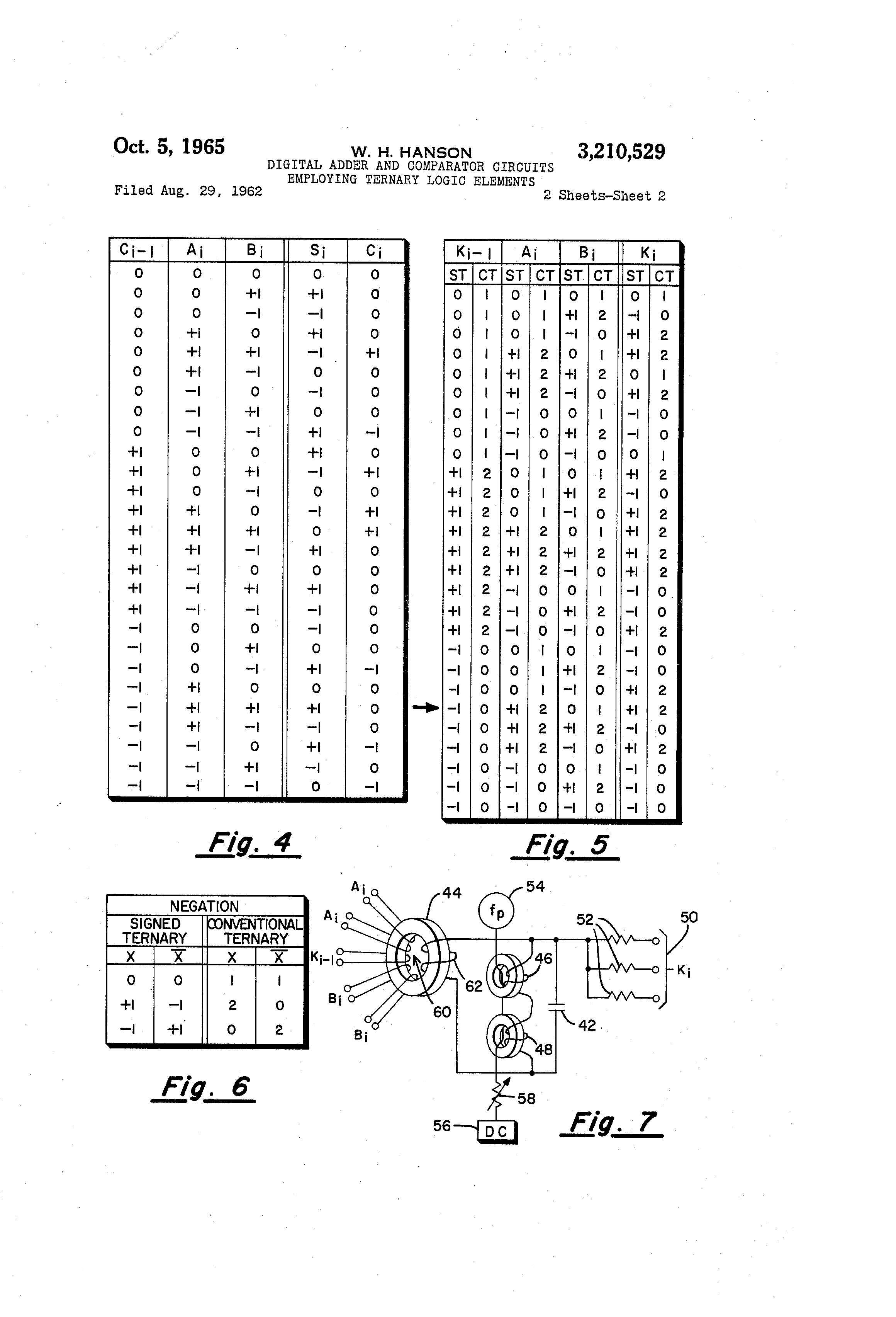 Brevet Us3210529 Digital Adder And Comparator Circuits Employing Logic Patent Drawing