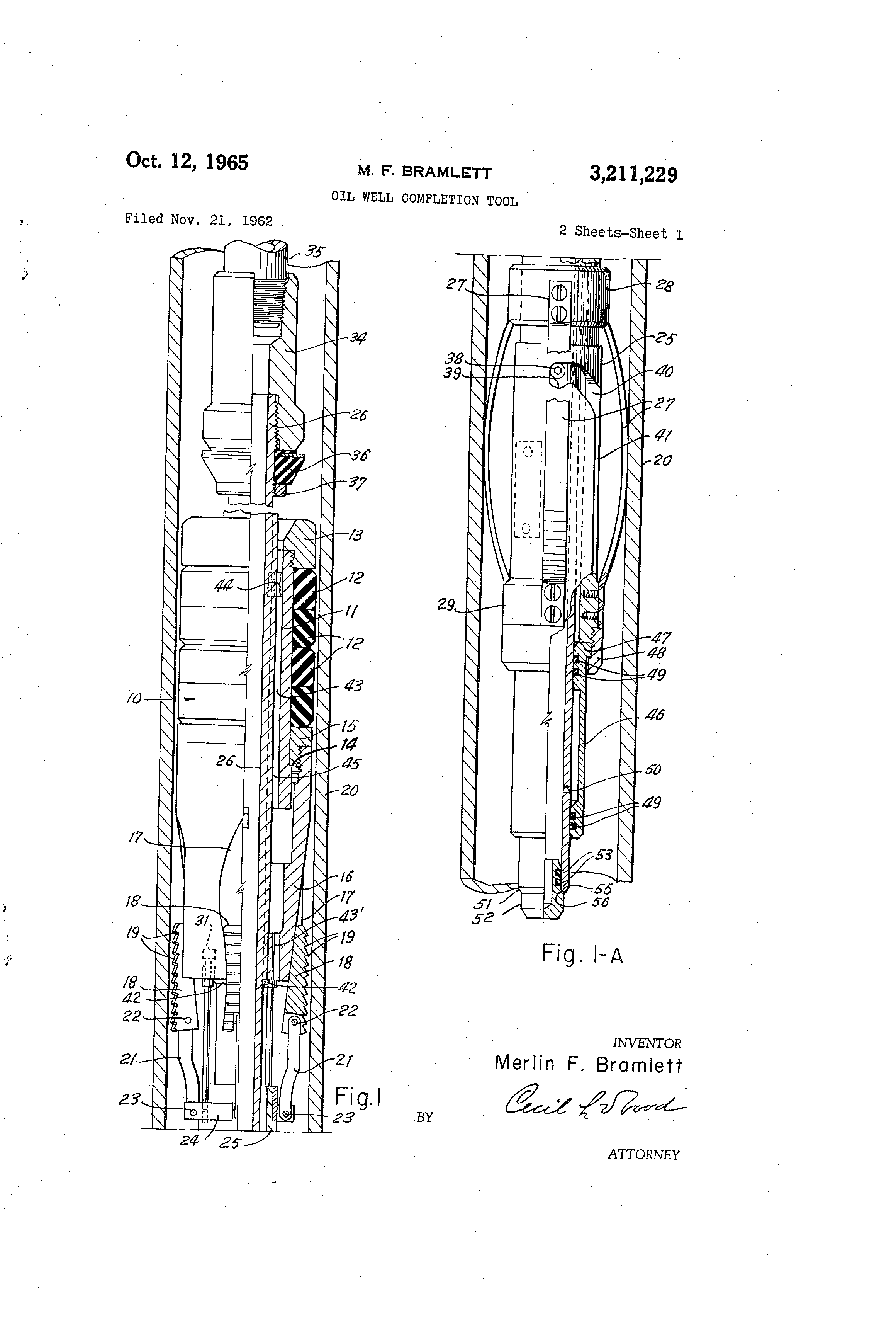 Patent US3211229 - Oil well completion tool - Google Patents