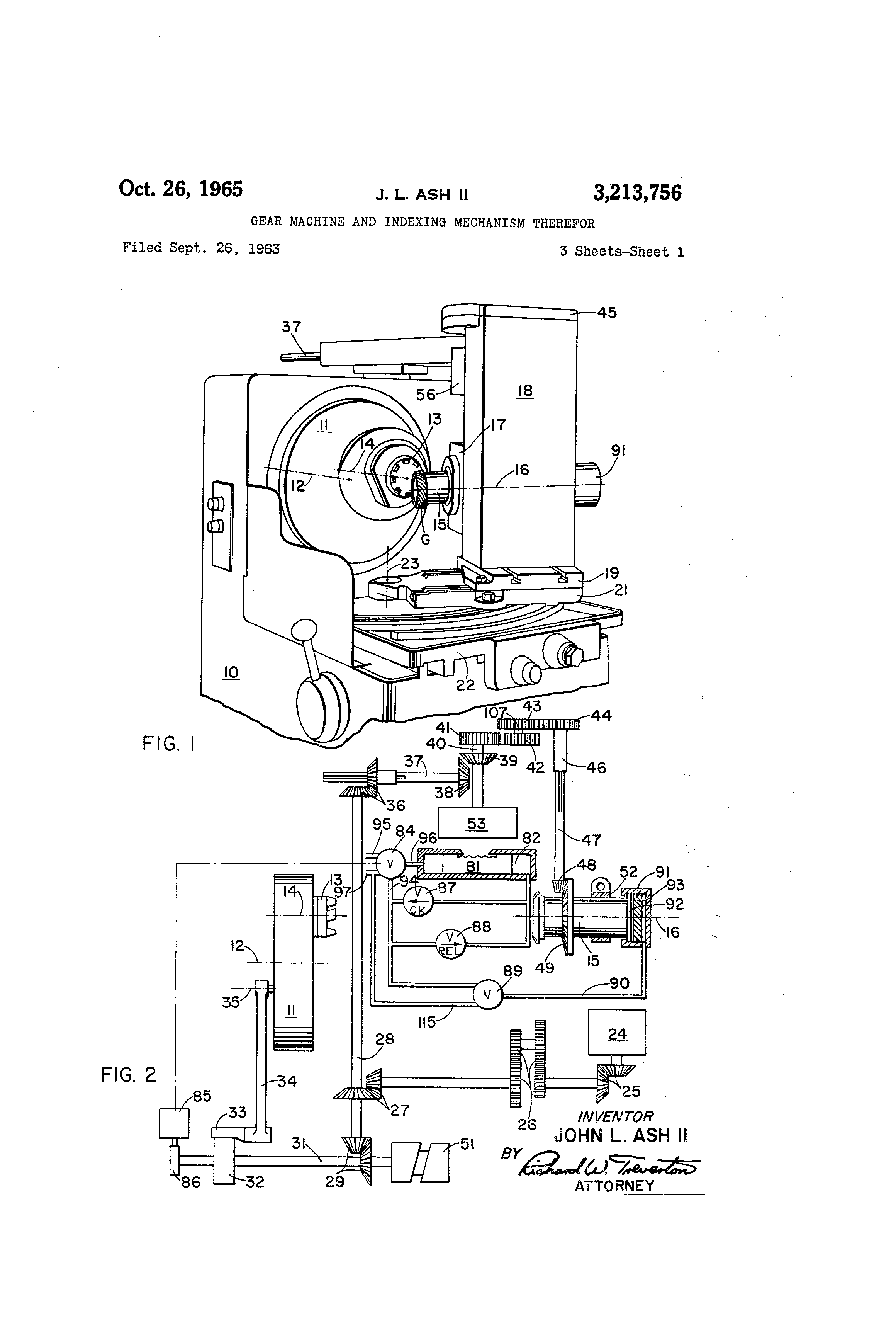patent us3213756 - gear machine and indexing mechanism ... gear train diagram maker gear shift diagram nissan frontier fuse box #8
