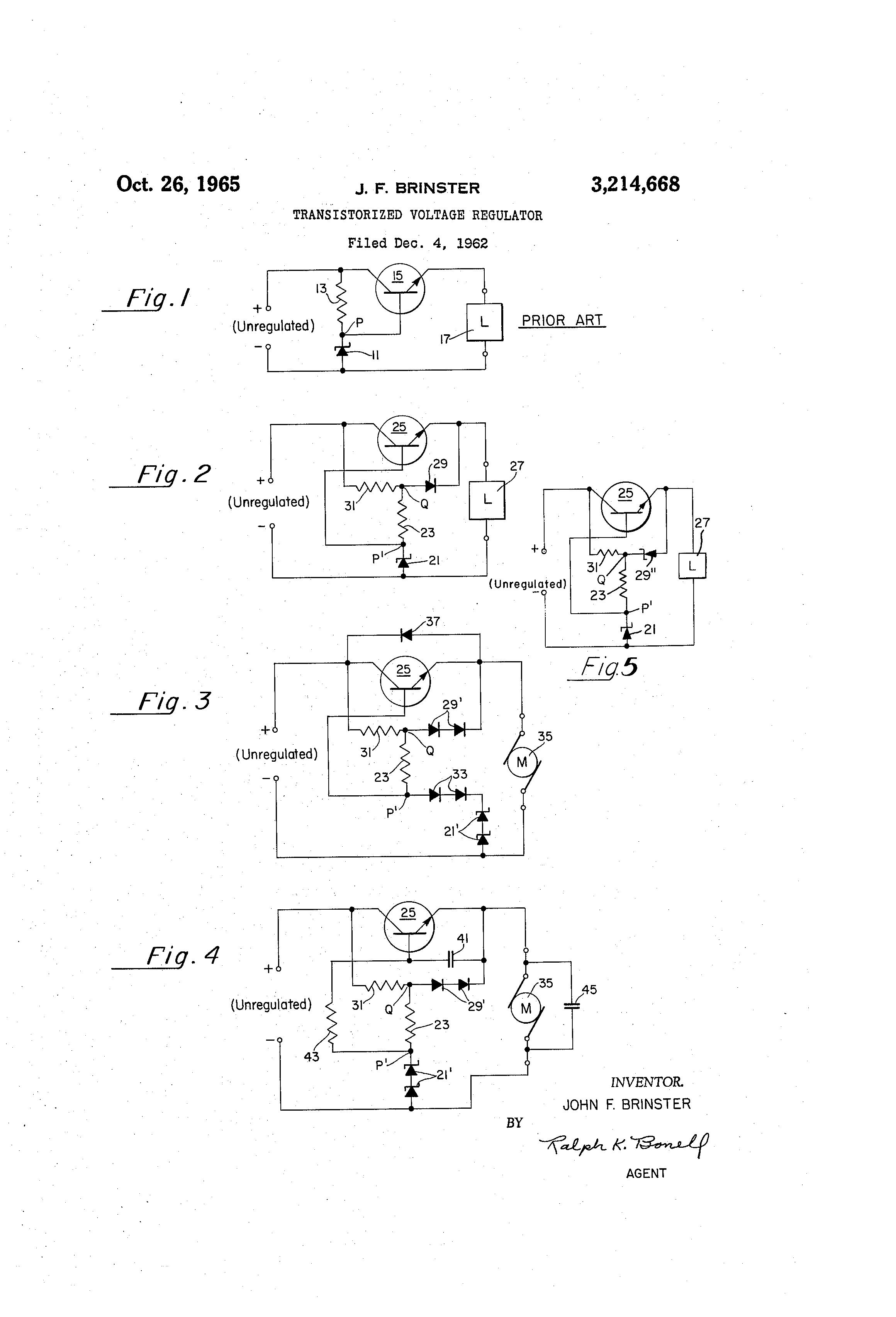 Patent US3214668 - Transistorized voltage regulator - Google Patents